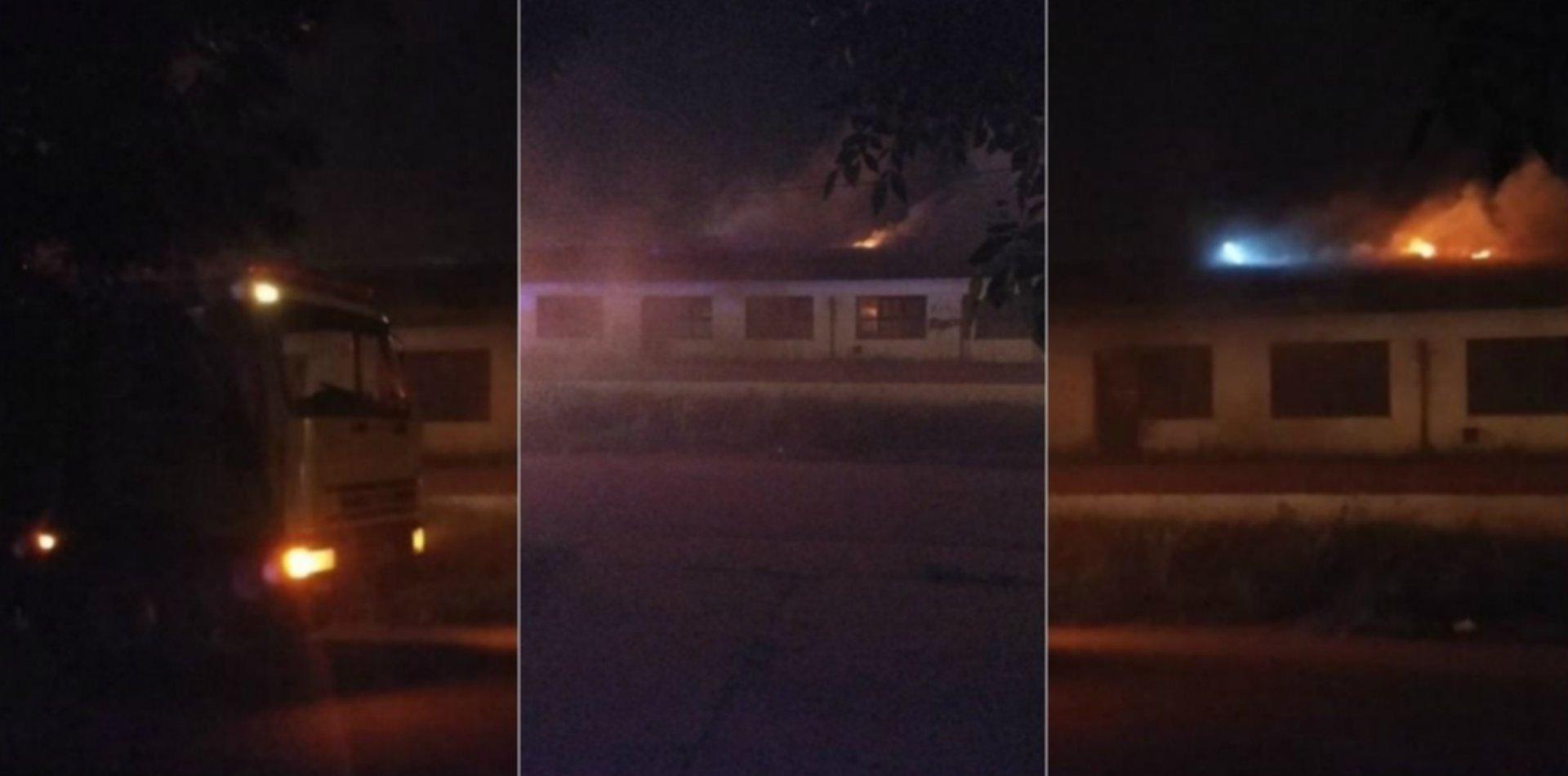 VIDEO: Así fue el terrible incendio en la escuela de Melchor Romero