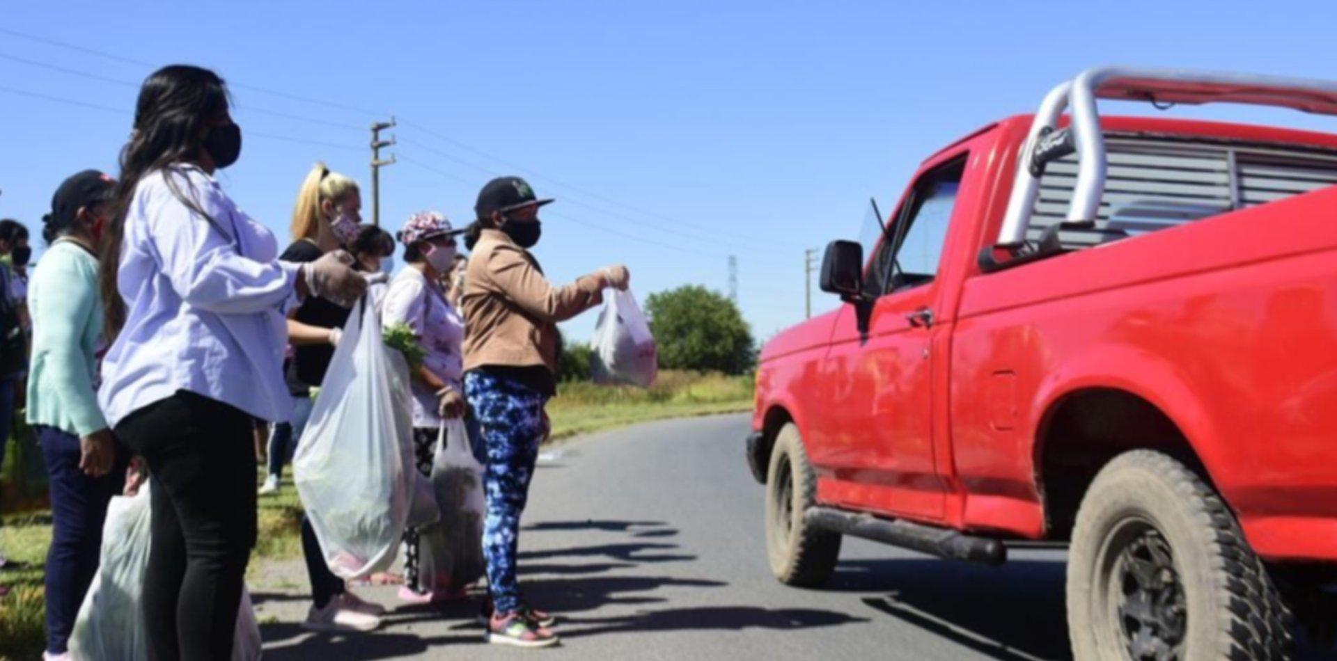 """Productores de La Plata protestaron en la ruta en rechazo al """"lock-out"""" del campo"""