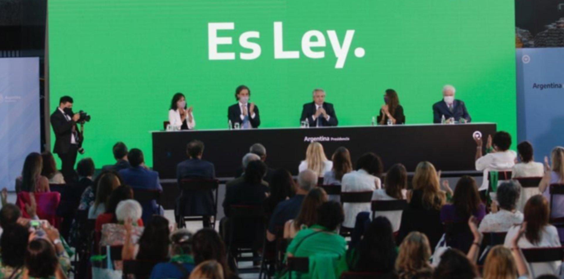 Alberto Fernández promulgó la ley del aborto