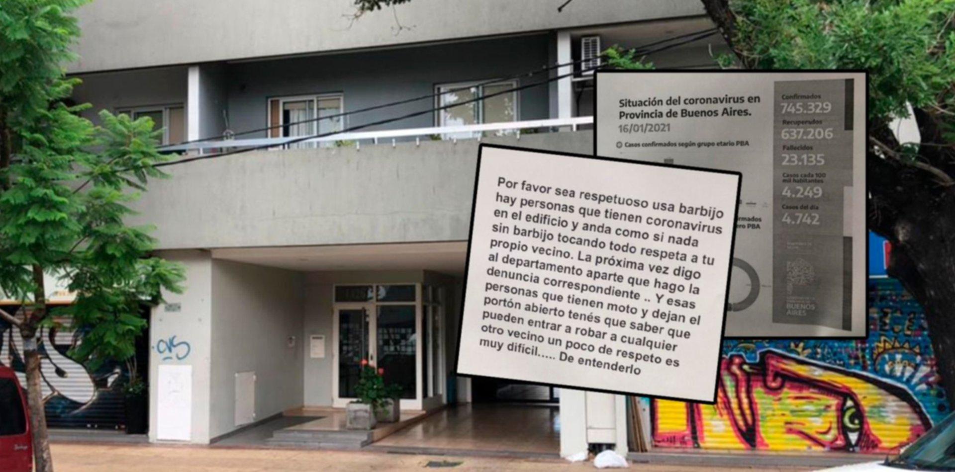 """Arde un edificio de La Plata por vecinos con coronavirus que """"andan como si nada"""""""