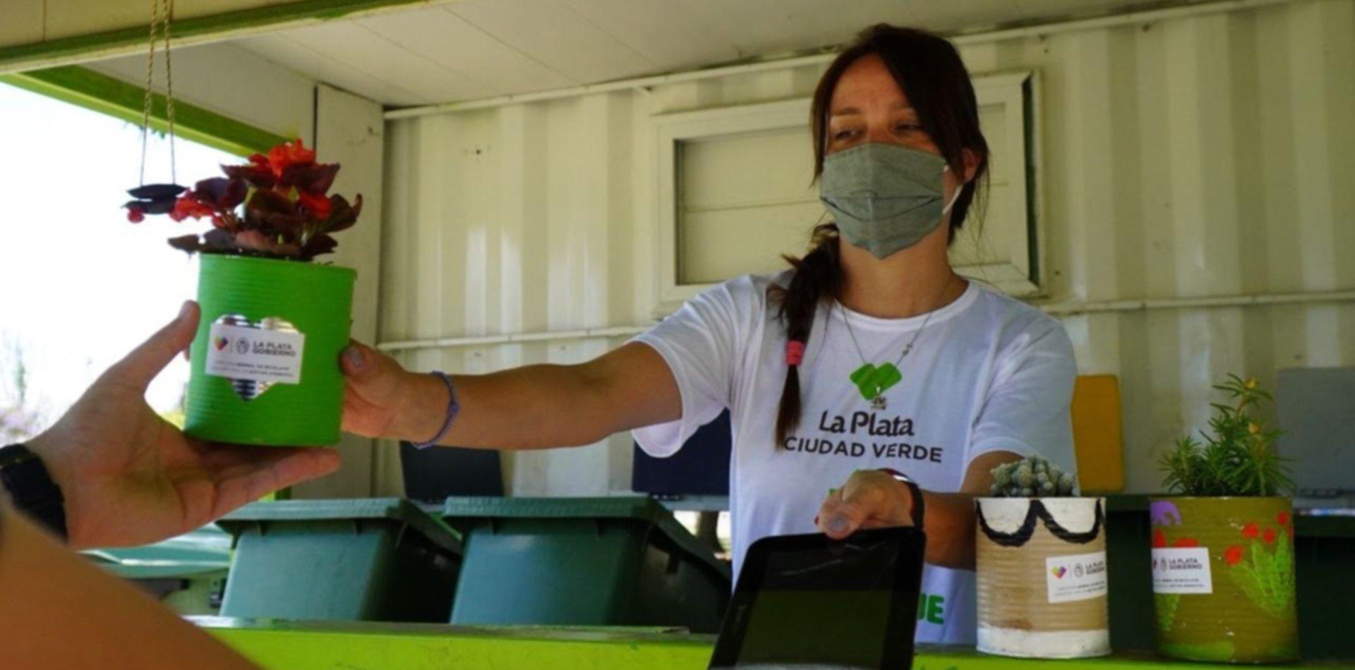 Ahora el Eco Canje llega a City Bell: entregarán plantines a cambio de residuos secos