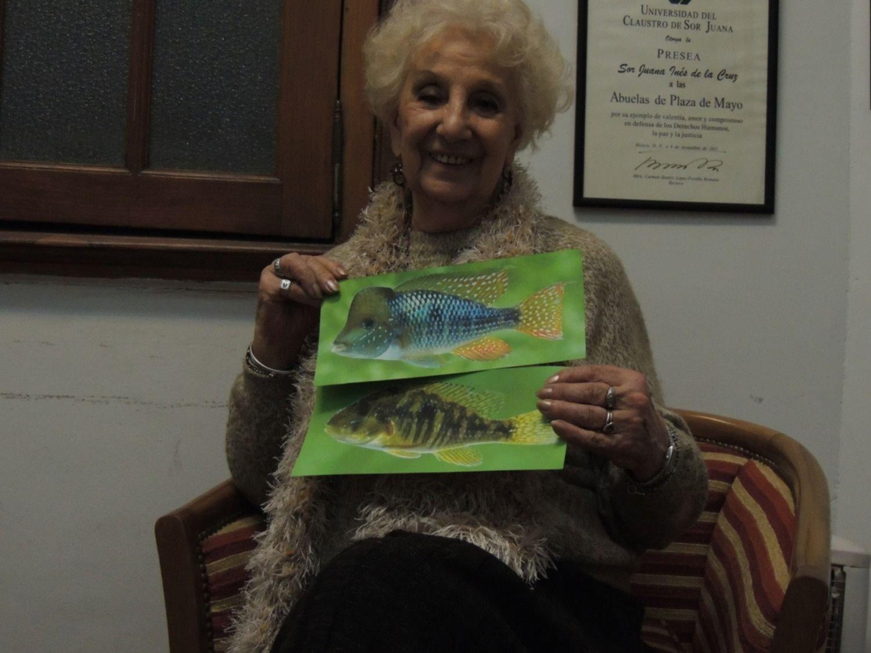 Nombrar con amor y compromiso: la historia del pez que le rinde homenaje a las Abuelas