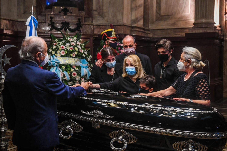 Despiden a Carlos Menem en el Salón Azul del Congreso