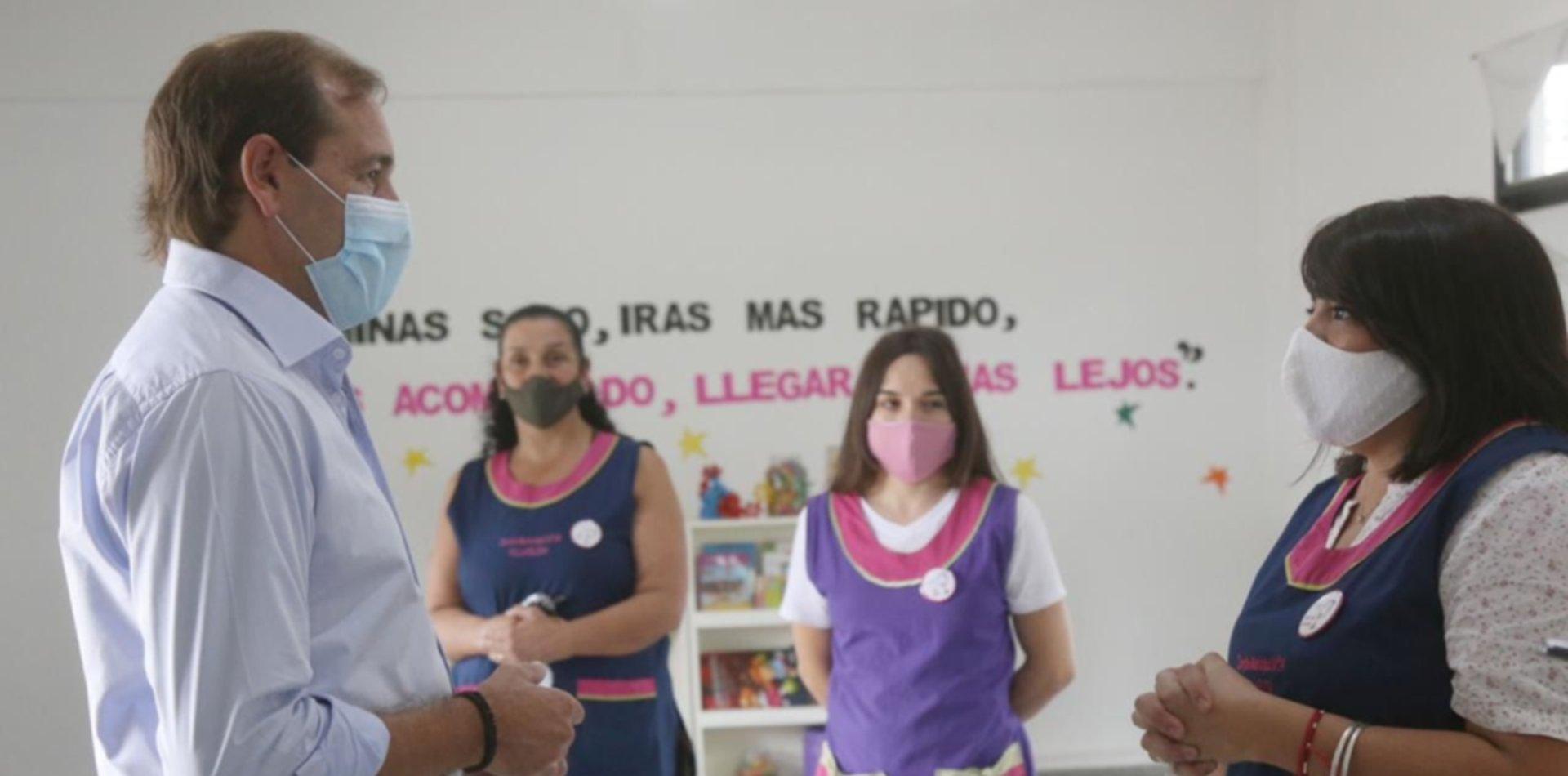 """Presentaron """"Mejor en la escuela"""" fortaleciendo los protocolos en colegios de La Plata"""