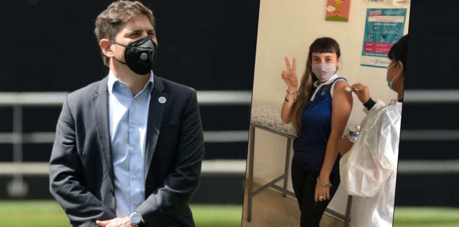 """Kicillof defendió a la joven que fue denunciada en La Plata como """"vacunada VIP"""""""