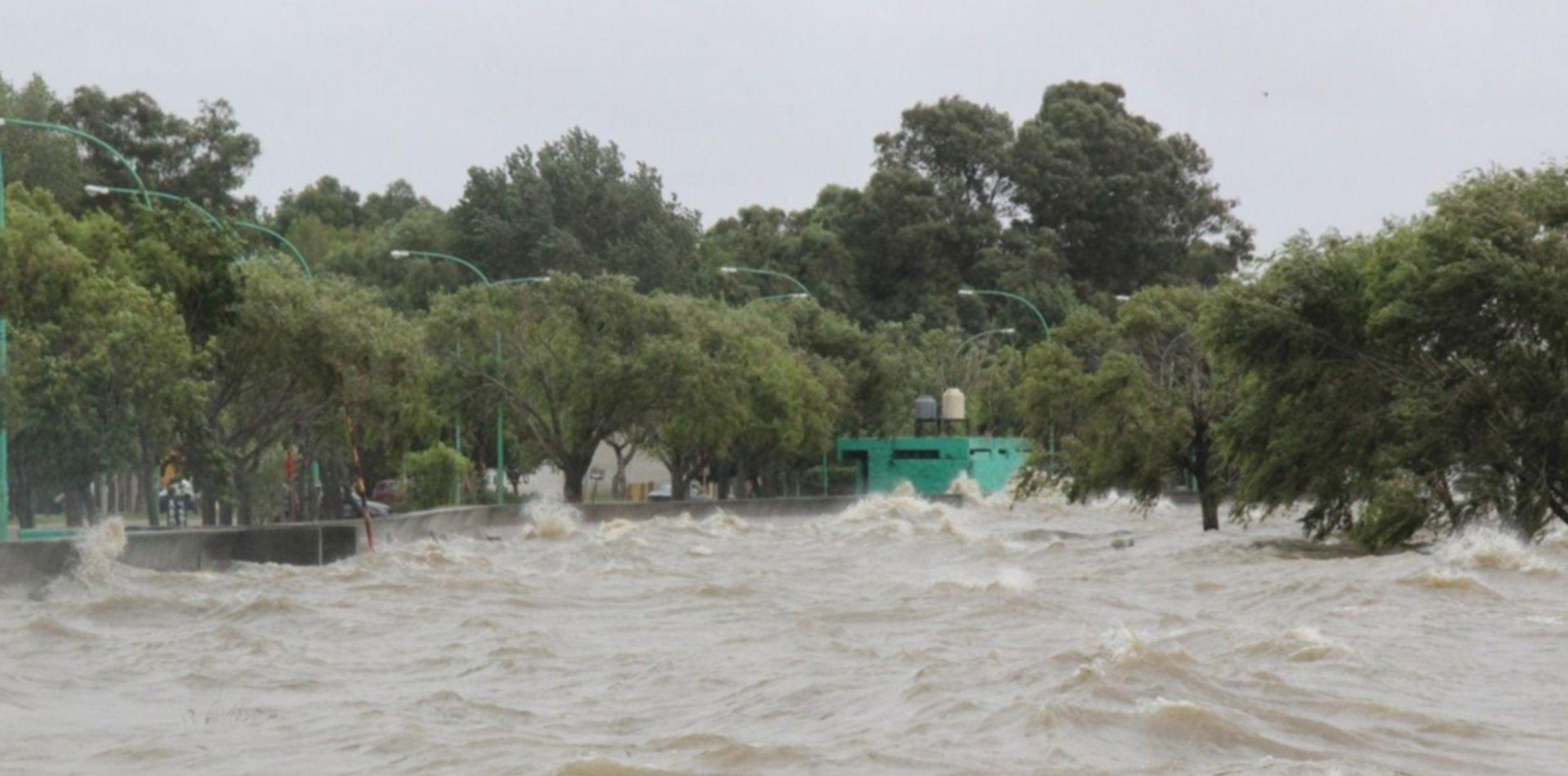 Lanzan una nueva alerta por la crecida del Río de La Plata en Ensenada