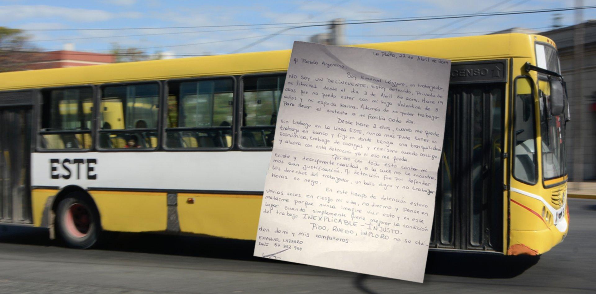 """""""Nunca pensé vivir esto"""", la emotiva carta de uno de los choferes del Este detenidos"""