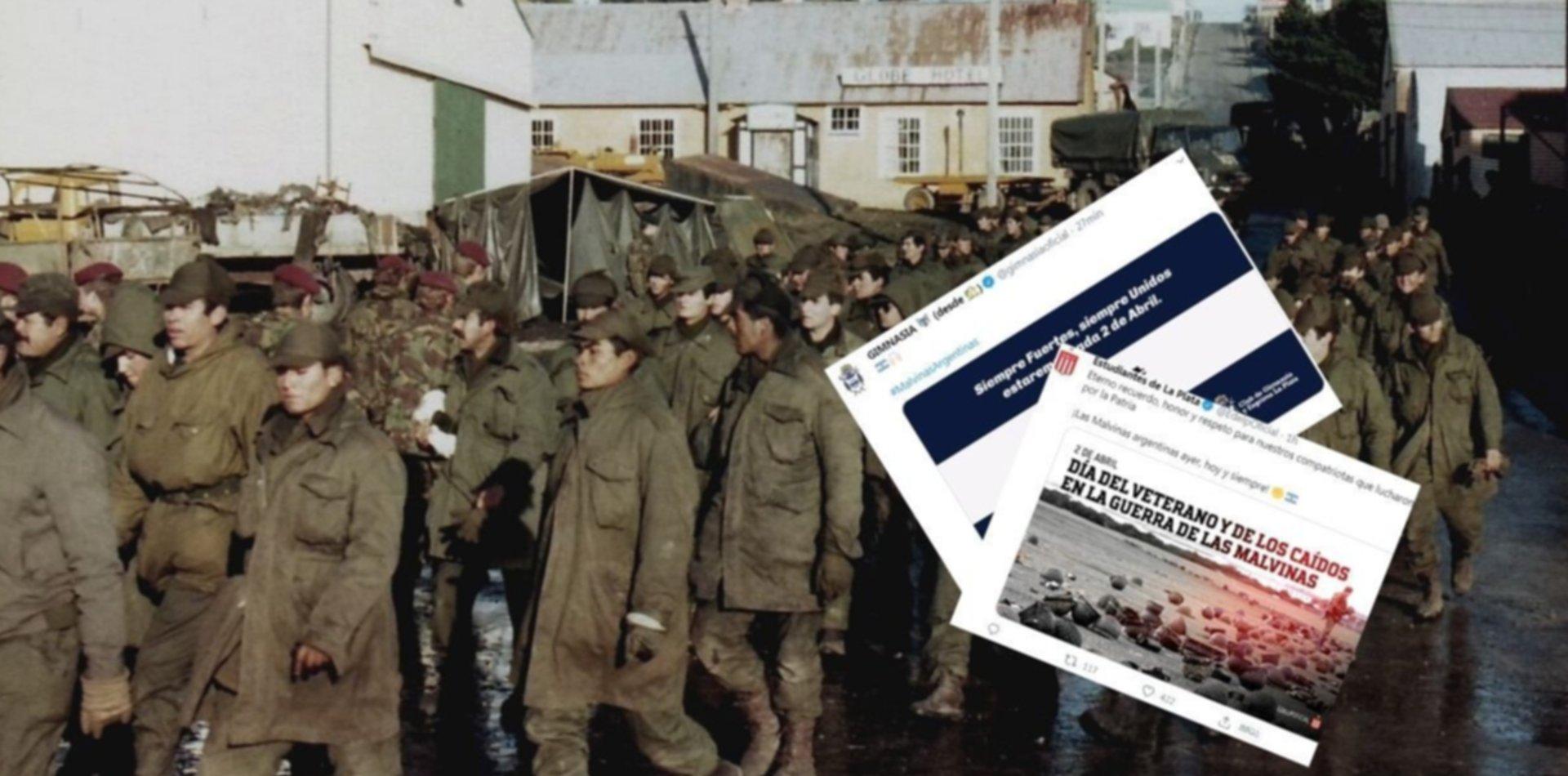 El recuerdo de Gimnasia y Estudiantes a los héroes de Malvinas en un nuevo 2 de abril