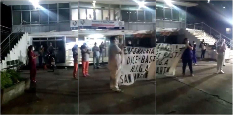 VIDEO: Enfermeros de La Plata hicieron un aplauso colectivo para generar conciencia