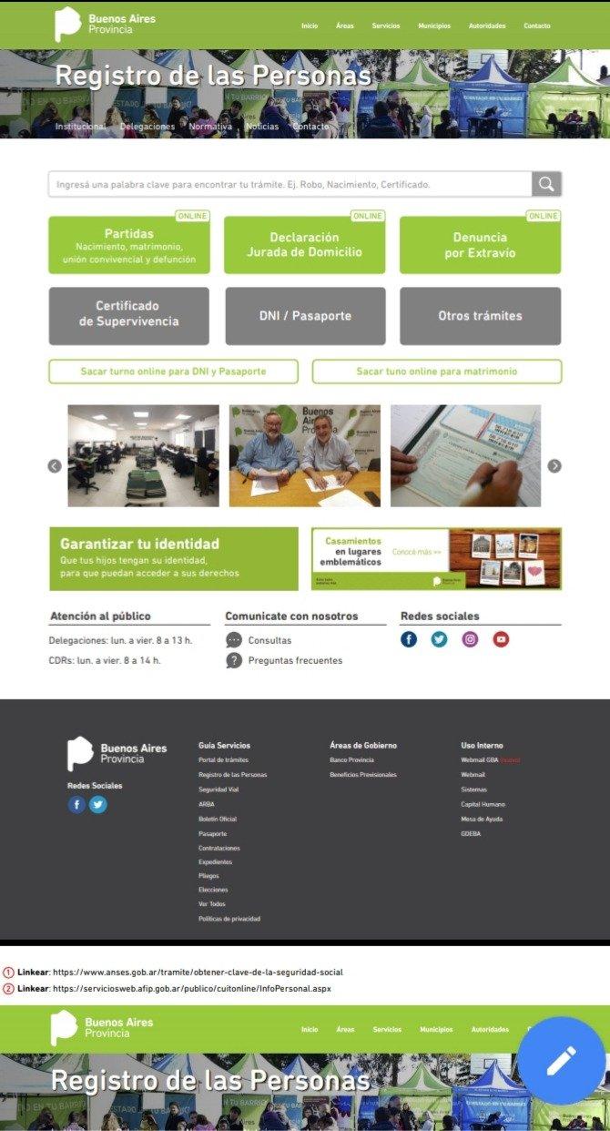 63176958a El Registro de las Personas ya habilitó la web para realizar más ...