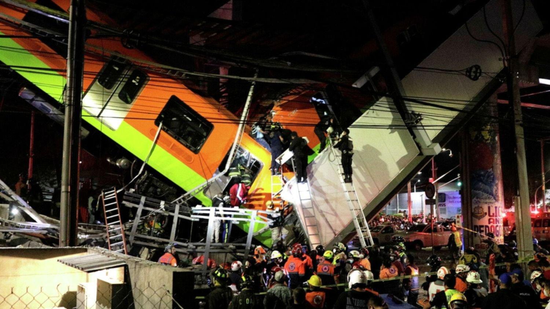 VIDEOS: Así fue el momento en el que colapsó el metro en México