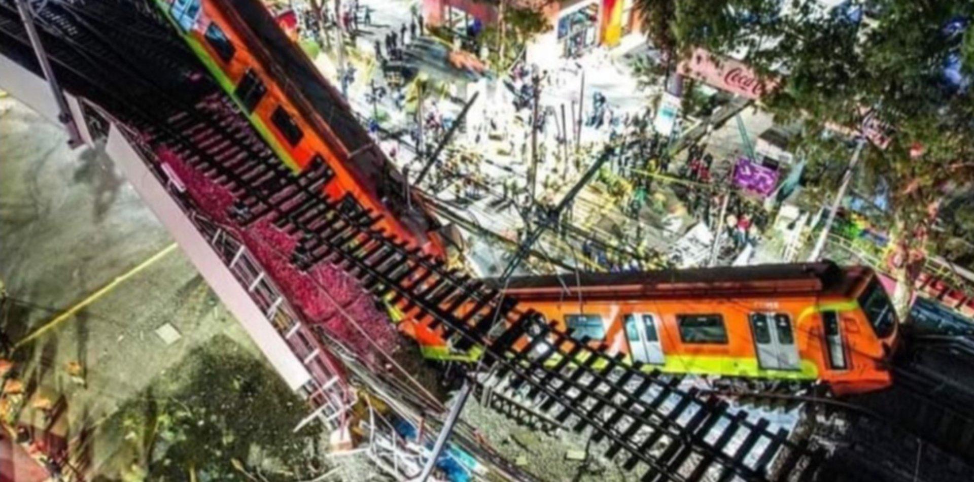 Las fotos más impactantes del colapso del metro en México