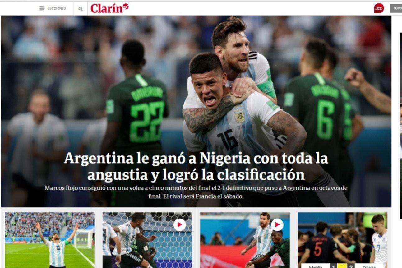 Marcos Rojo, en las tapas de la Argentina y el mundo por su gol salvador