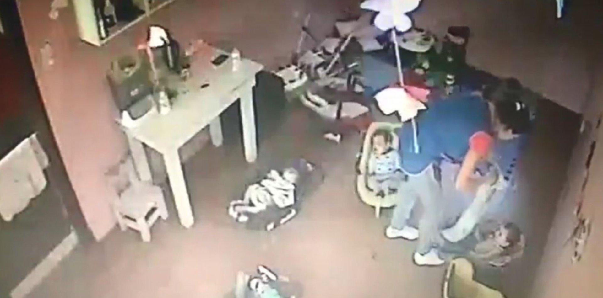 VIDEO: Así fue el brutal maltrato a una beba de 4 meses en un jardín maternal de La Plata