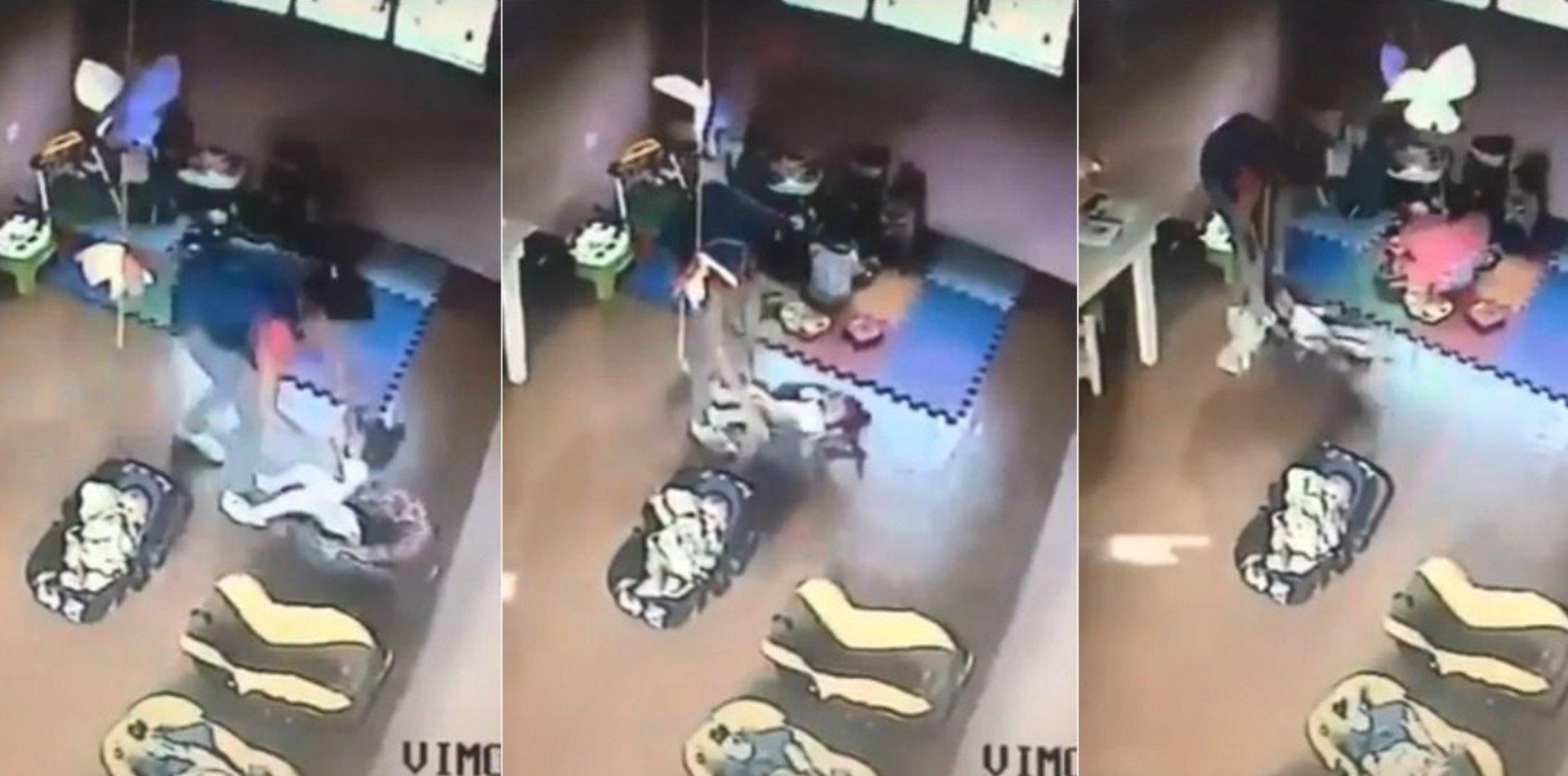 Jardín del horror en La Plata: apareció un nuevo video con maltratos a otros bebés