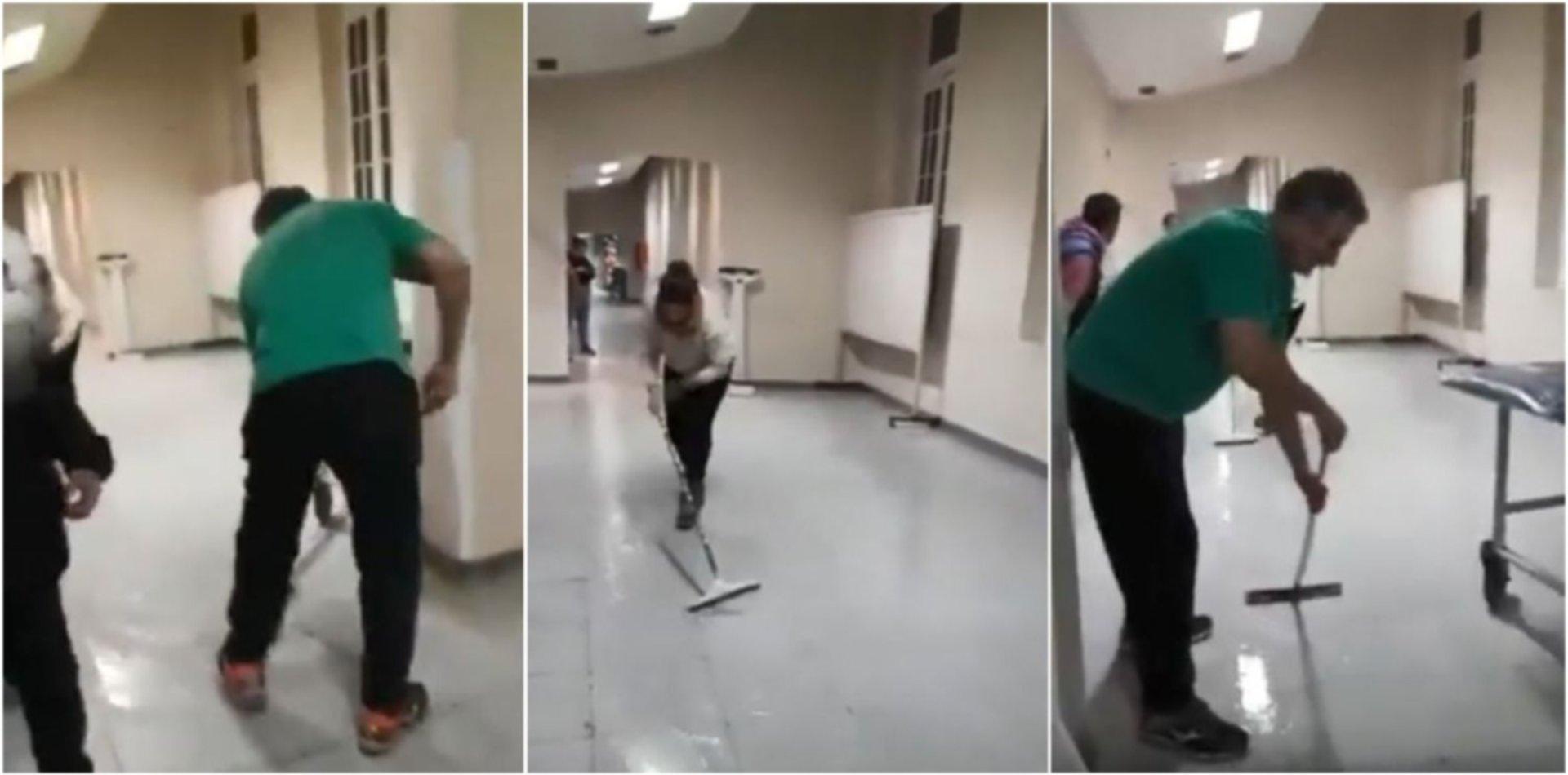 VIDEO: Por las intensas lluvias en La Plata se inundó el Hospital San Martín