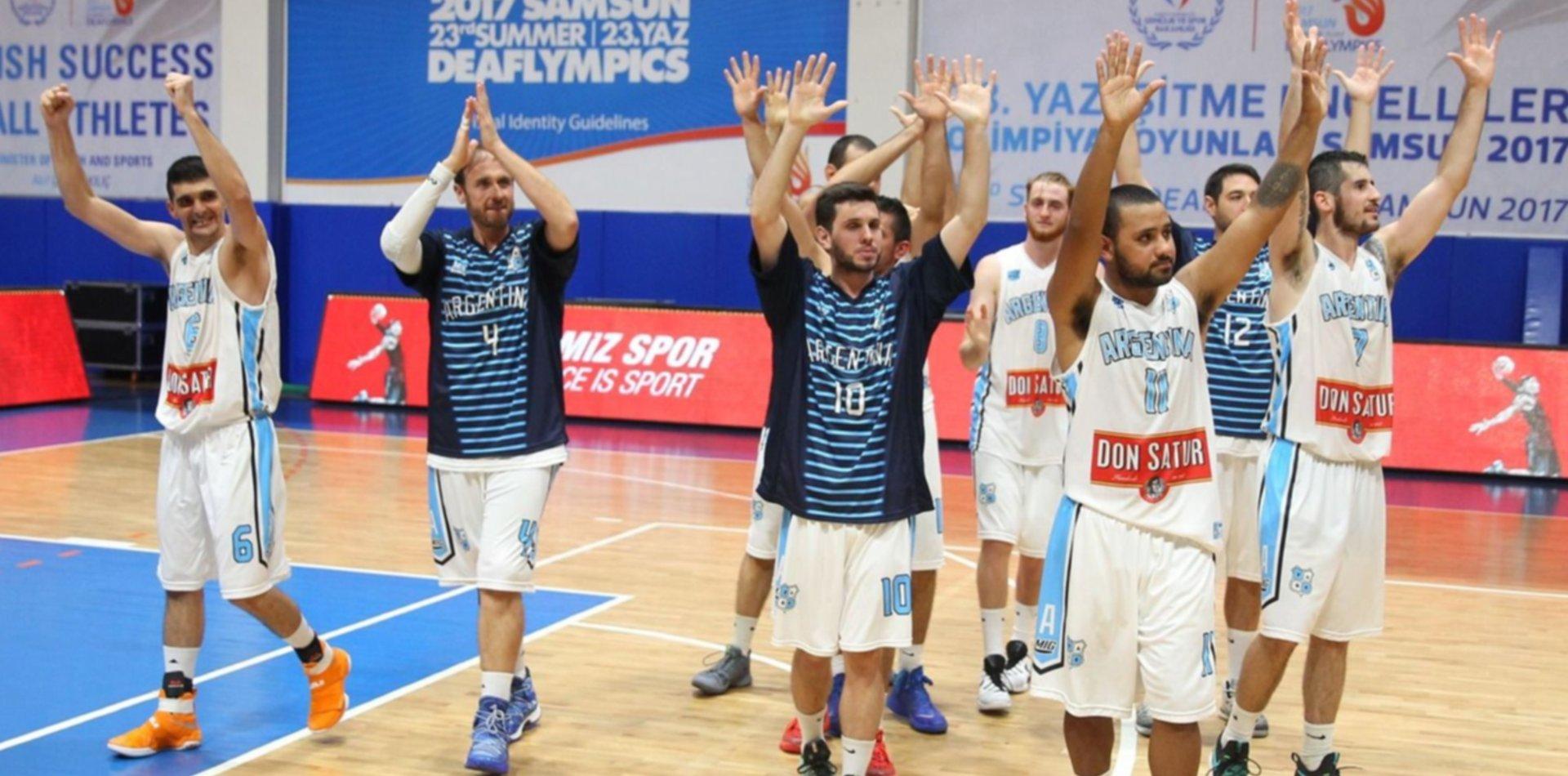 La Selección argentina de básquet de sordos juega en La Plata antes de viajar al Mundial