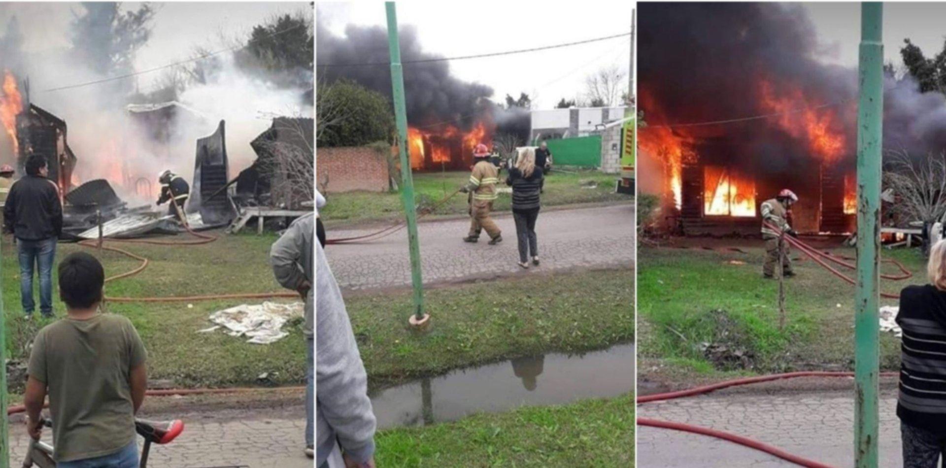 Conmoción en Melchor Romero: una familia lo perdió todo en el incendio de su casa
