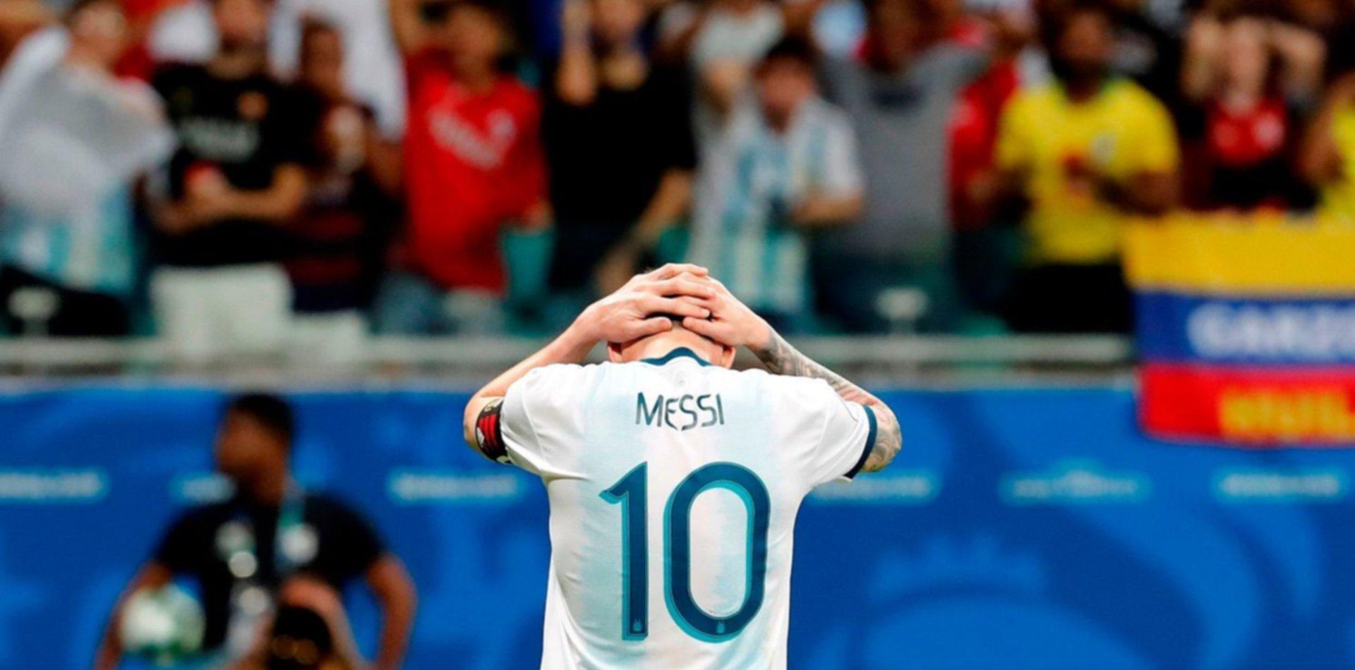 Duro cachetazo para Argentina en el arranque de la Copa América