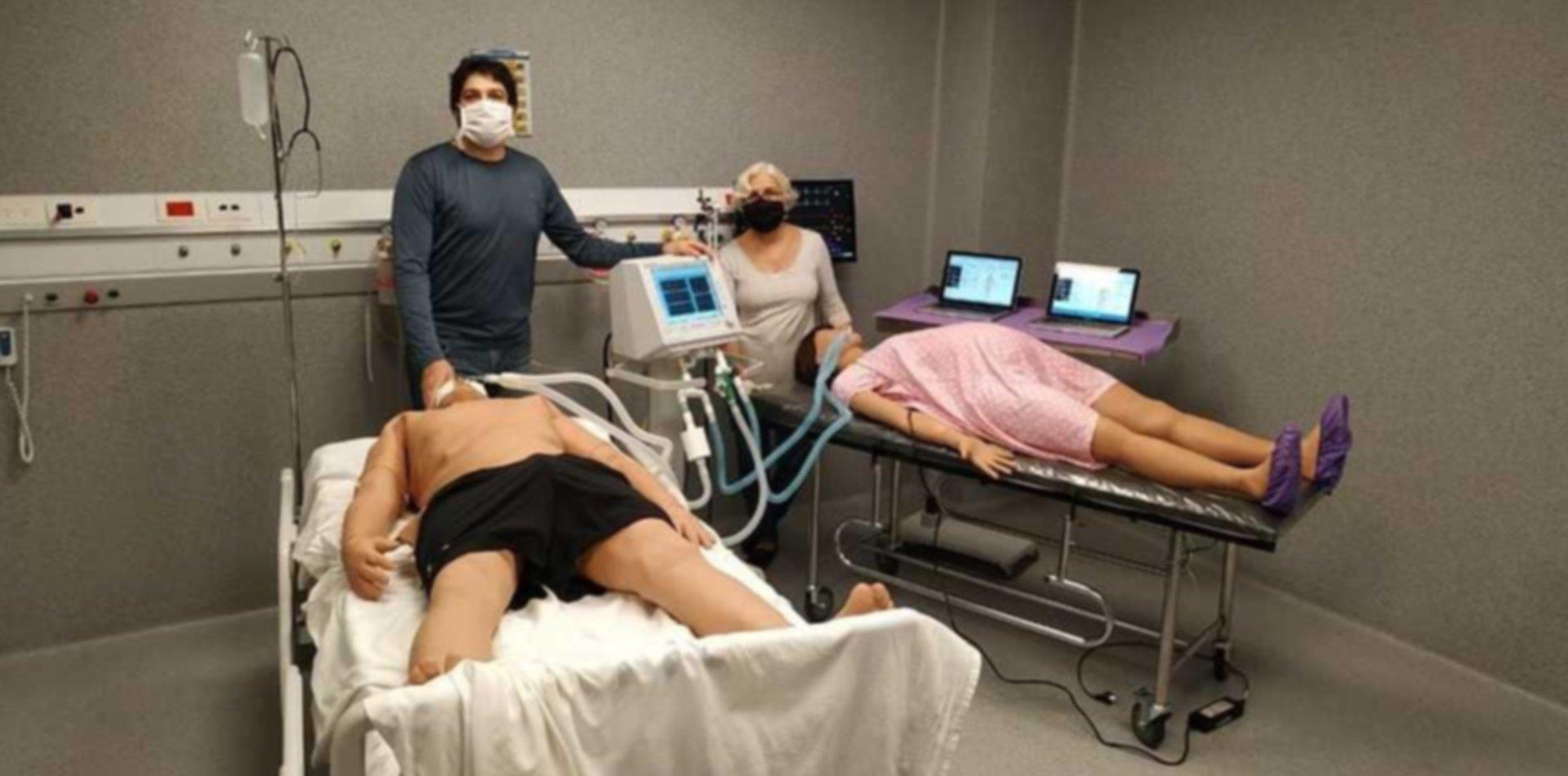 La UNLP probó un dispositivo que permite usar un respirador para dos personas a la vez
