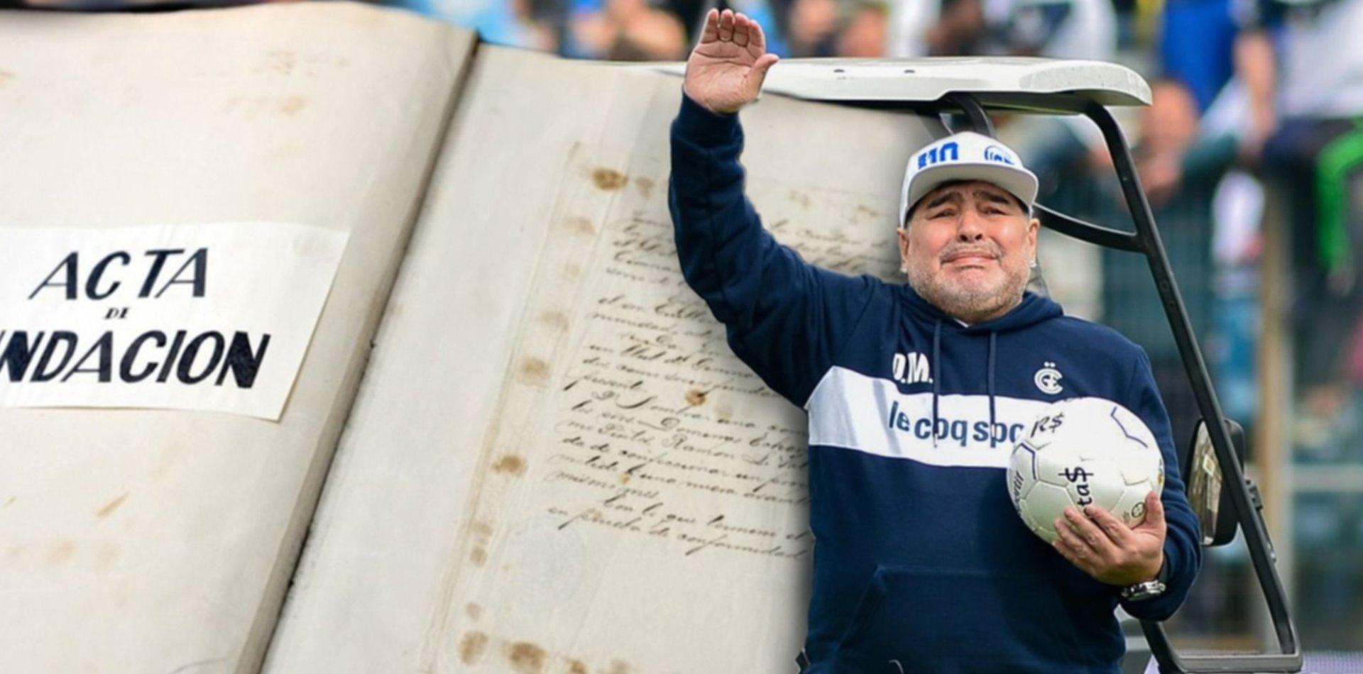 Gimnasia festeja un nuevo aniversario y asegura la continuidad de Maradona como DT