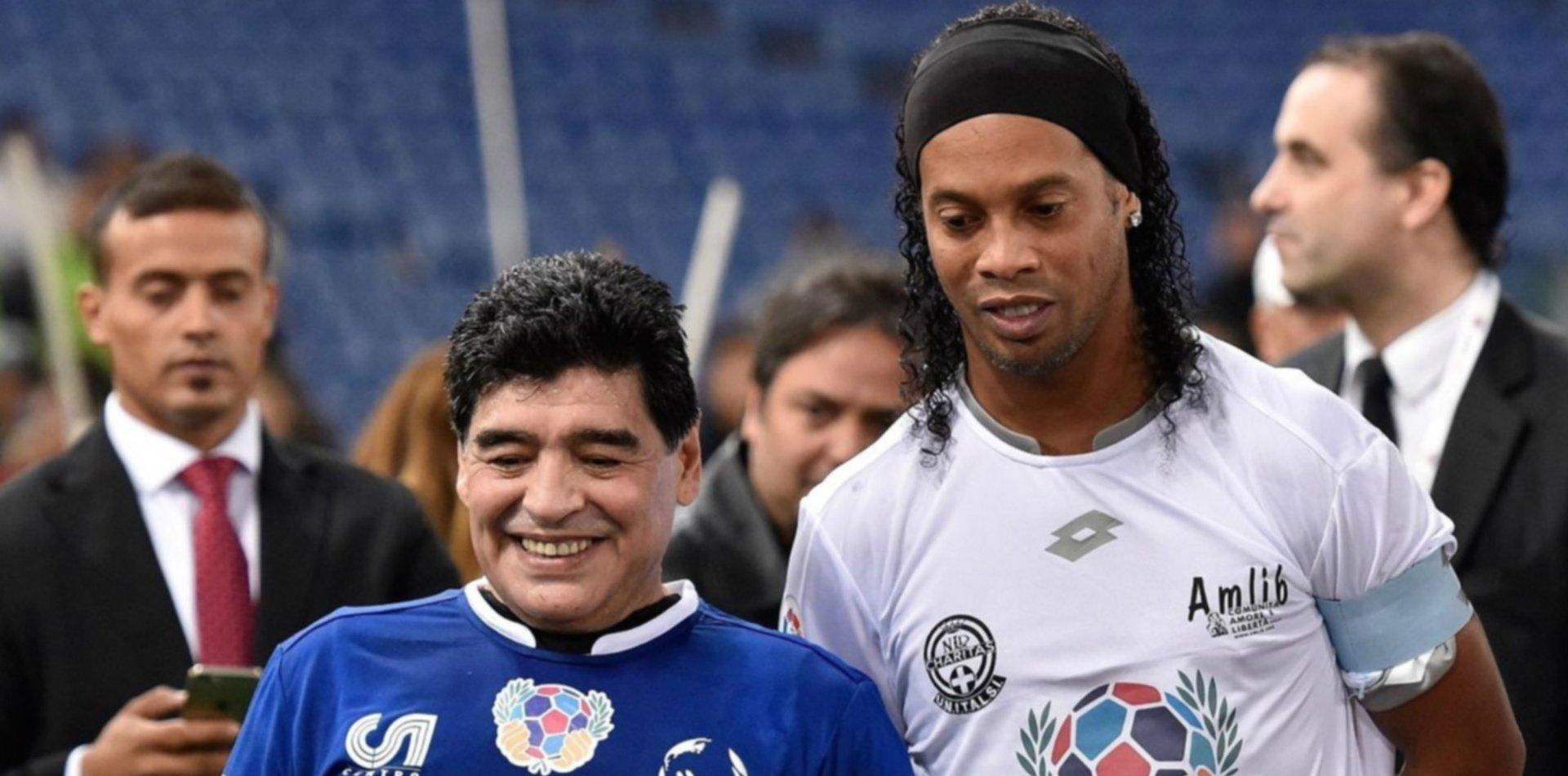 En medio de los rumores en Gimnasia, Pellegrino habló de Ronaldinho y Caniggia