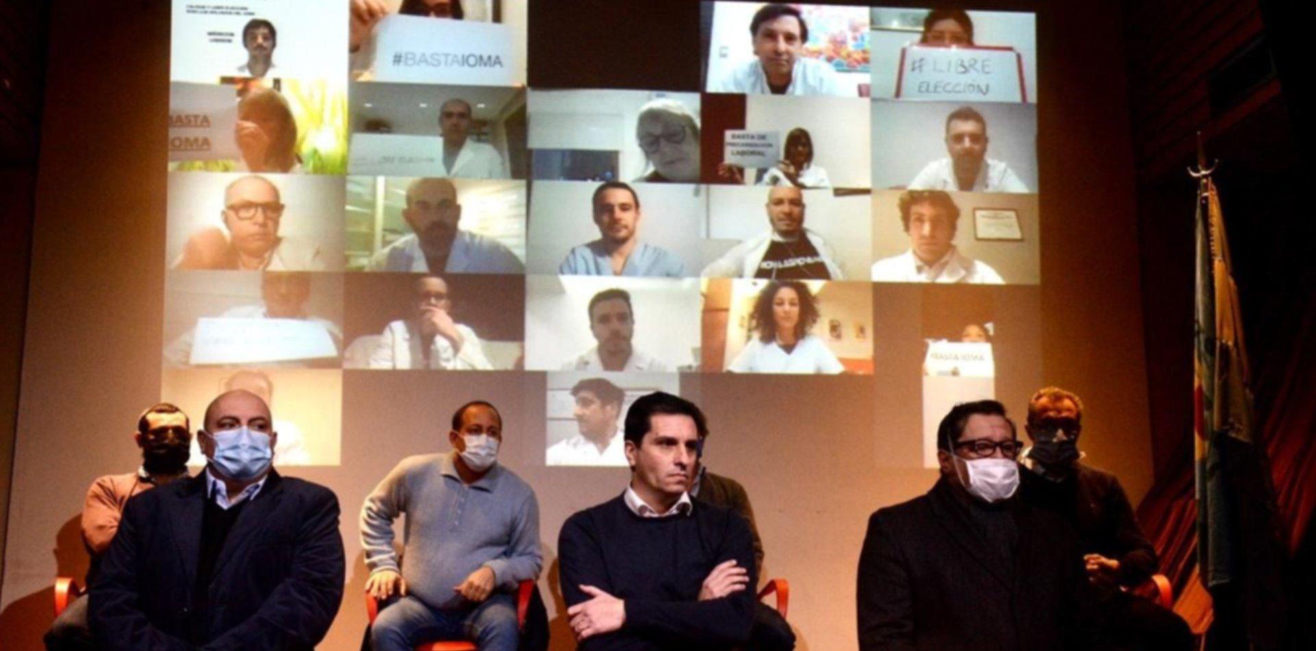 Guardapolvos blancos, barbijos y caravana: los médicos protestarán contra el IOMA