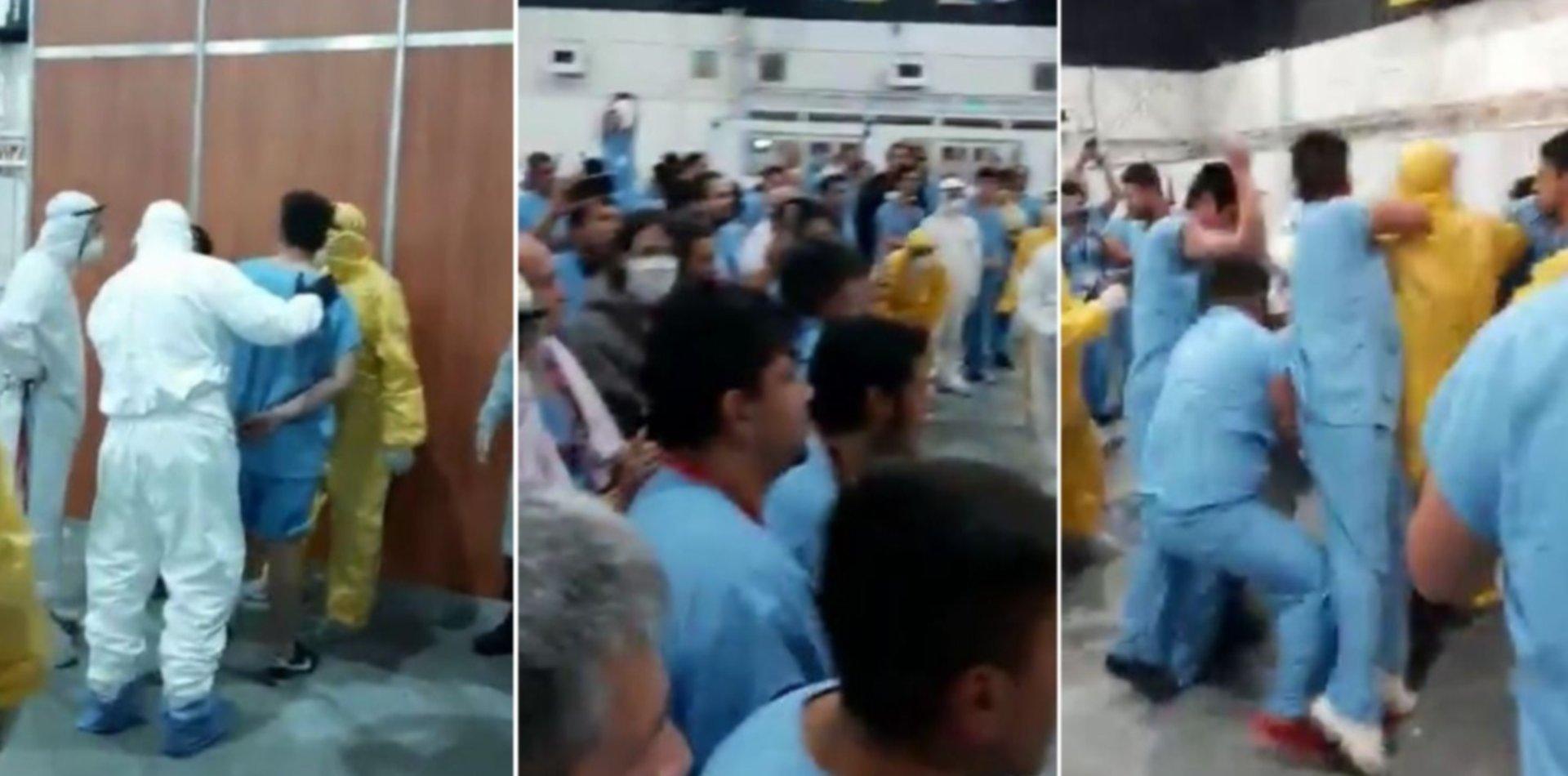 VIDEO: Un supuesto robo desató una batalla campal entre pacientes con coronavirus