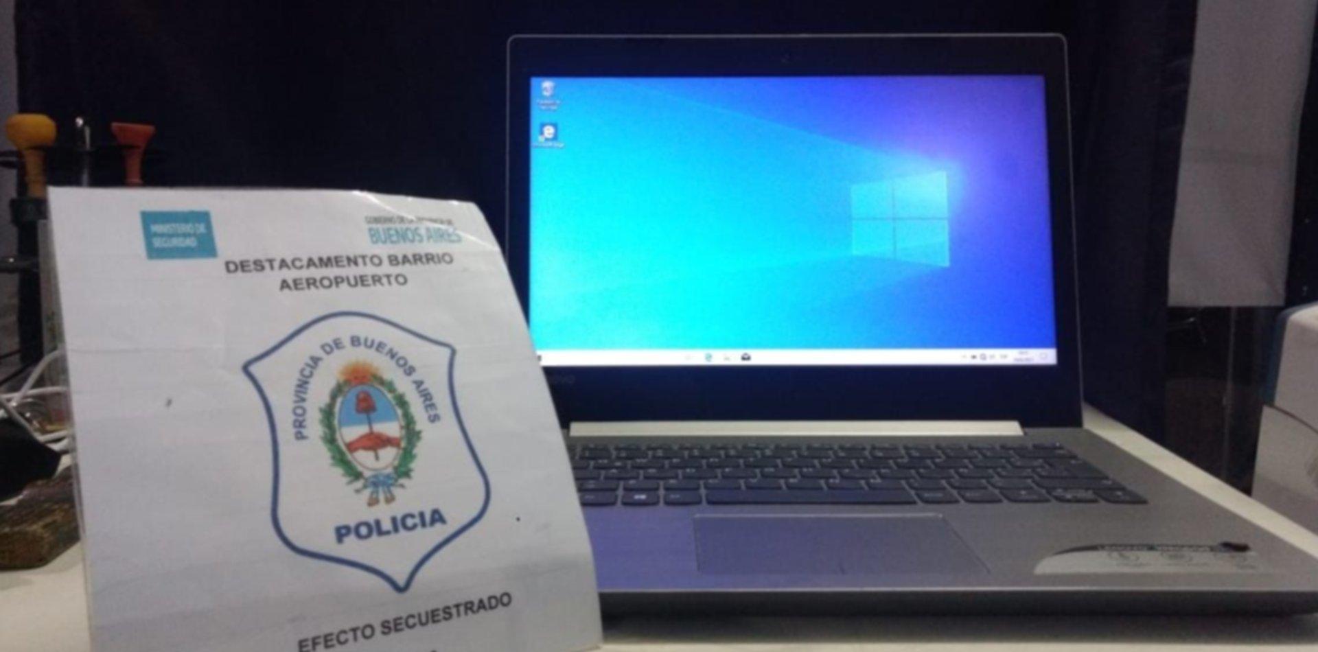 Robaron una notebook, la quisieron vender a la semana por Facebook y los detuvieron
