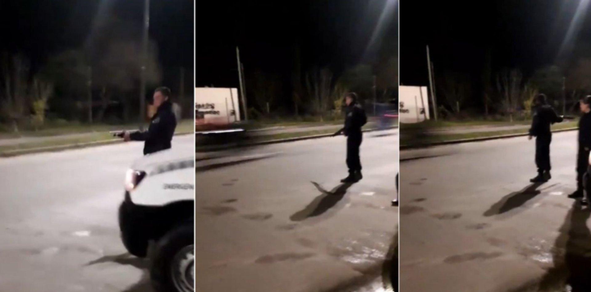 VIDEO: Pasaron por un control antipicadas en La Plata, no pararon y les dispararon