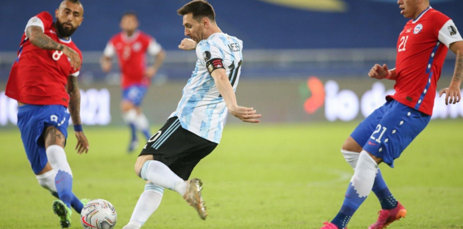 Argentina empató 1 a 1 ante Chile en su debut en la Copa América 2021