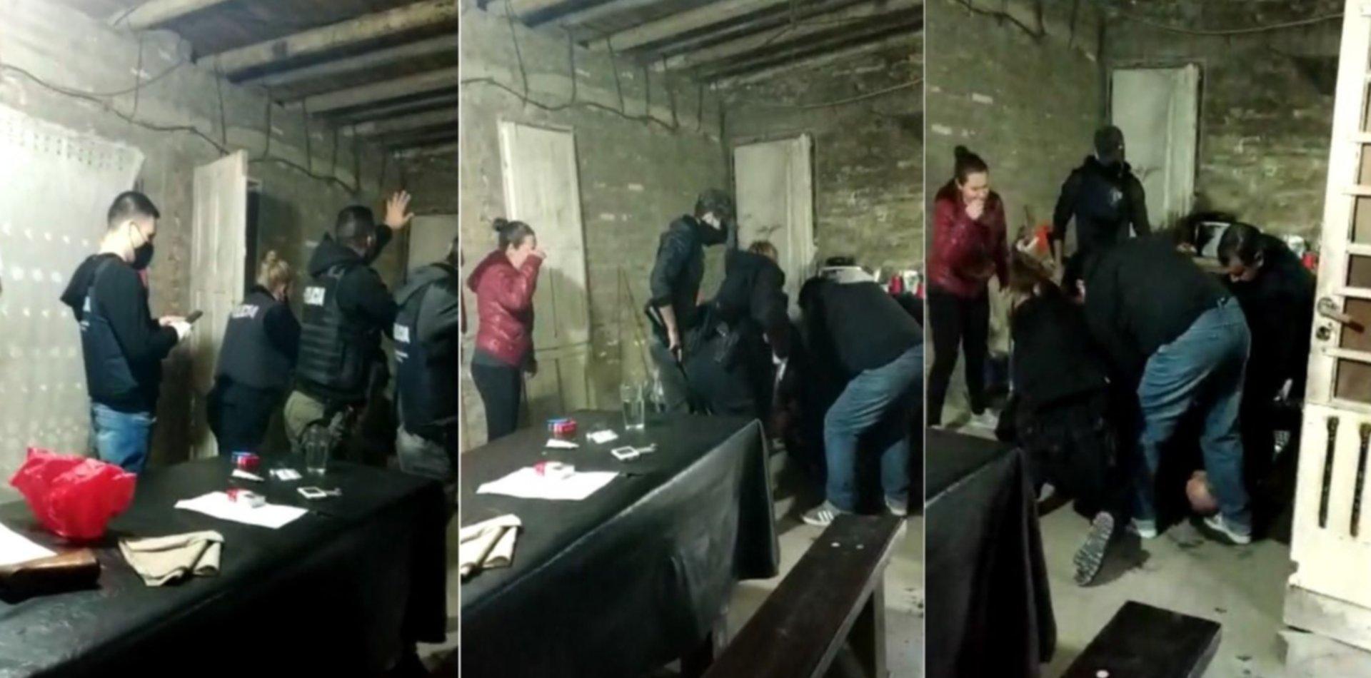 VIDEO: El dramático momento en que apuñalan a un policía en pleno operativo