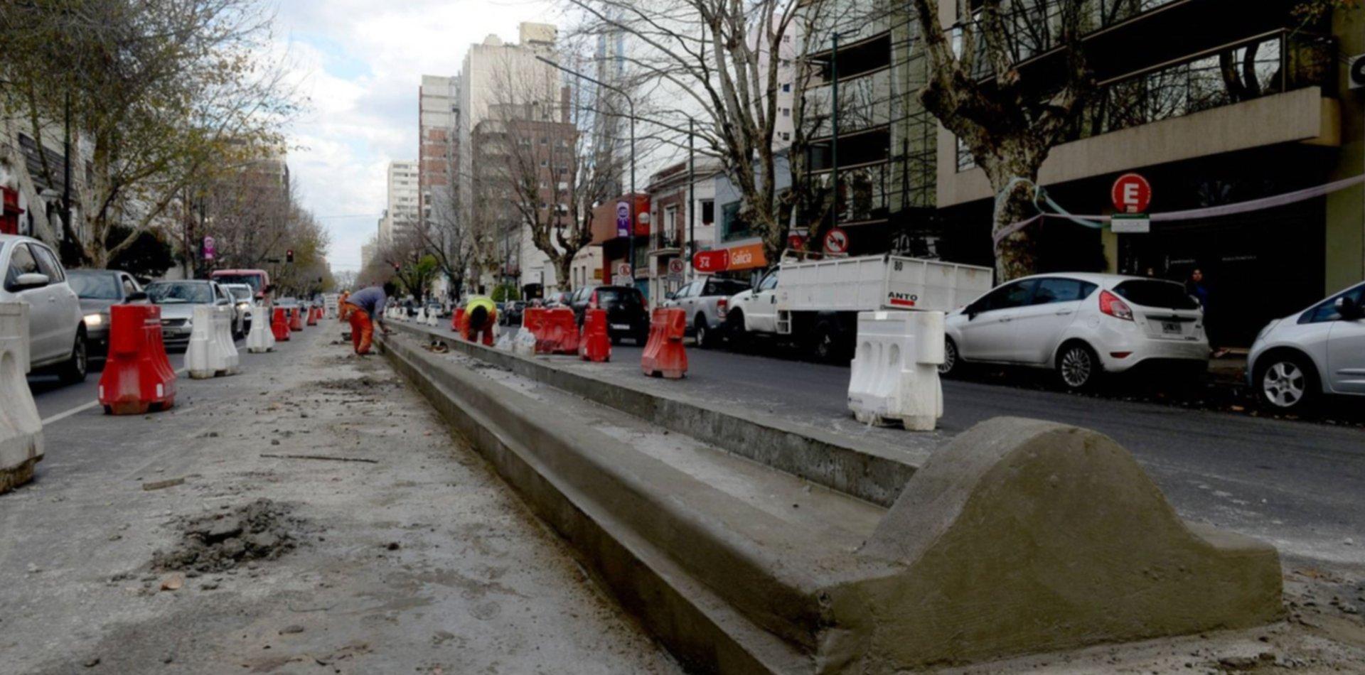 Arrancó la obra: así lucen las nuevas ramblas sobre la avenida 13