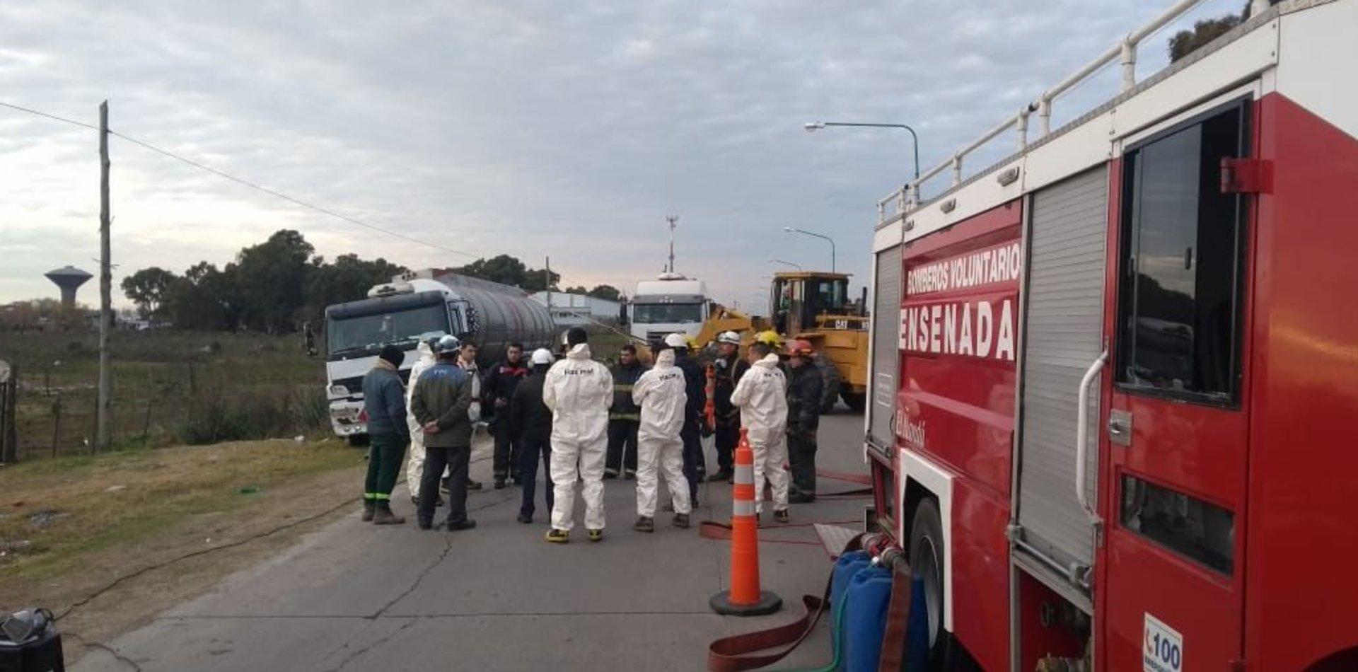 Tensión en Ensenada por el despiste de un camión que transportaba un gas tóxico