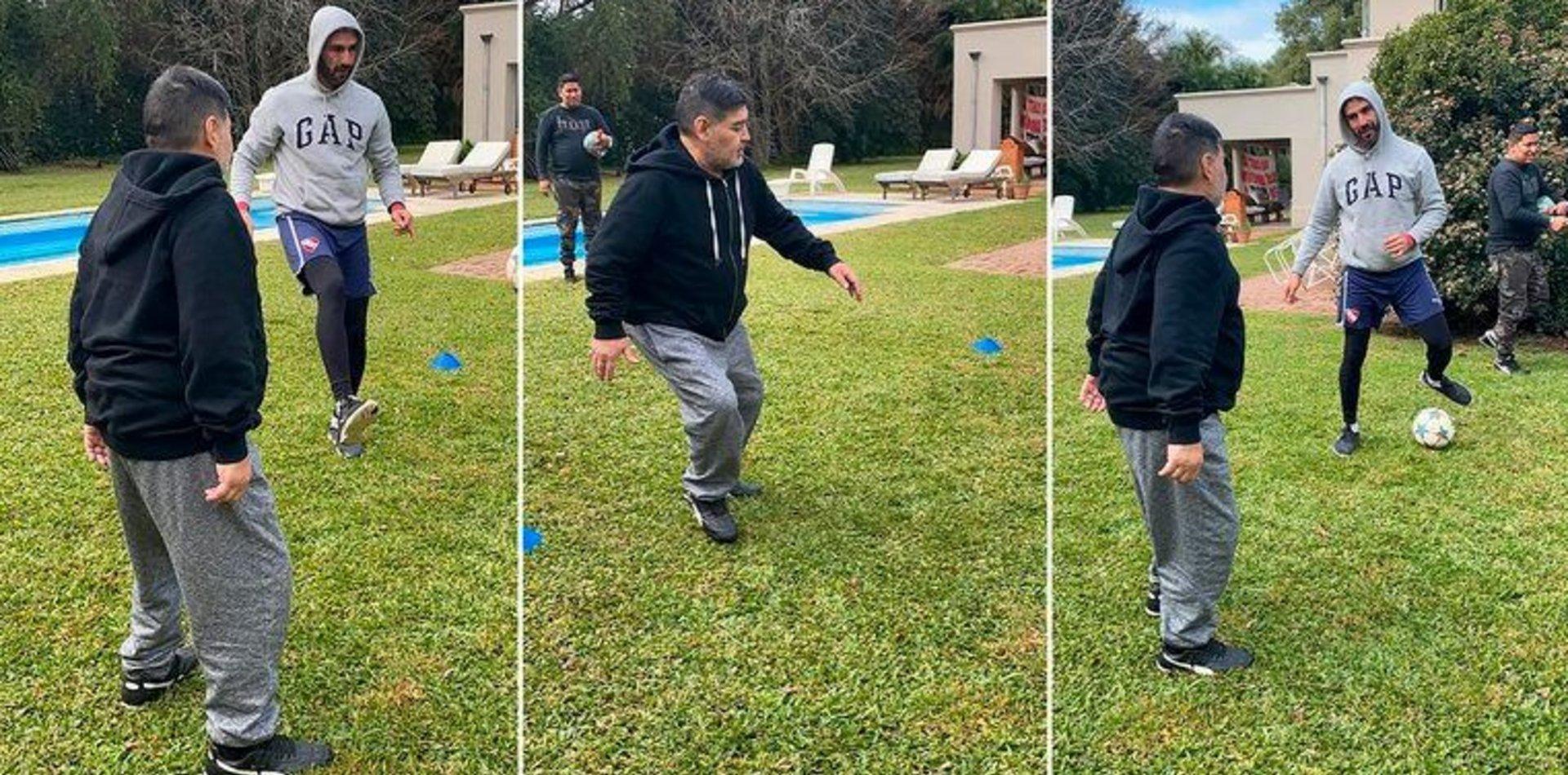 Así es la rutina de Maradona para bajar 5 kilos, dejar el alcohol y volver al fútbol-tenis