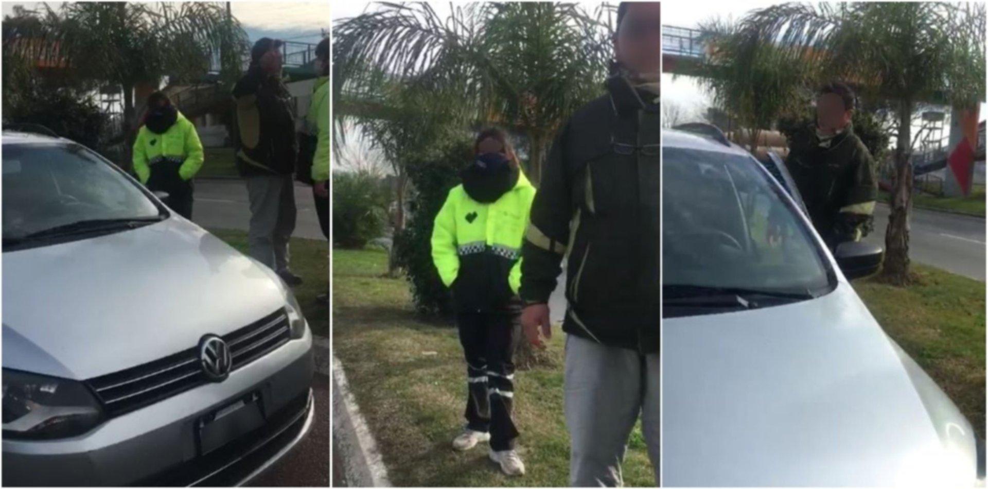 """VIDEO: Circulaba sin permiso, lo pararon y amenazó con """"romperle"""" los huesos a los agentes"""