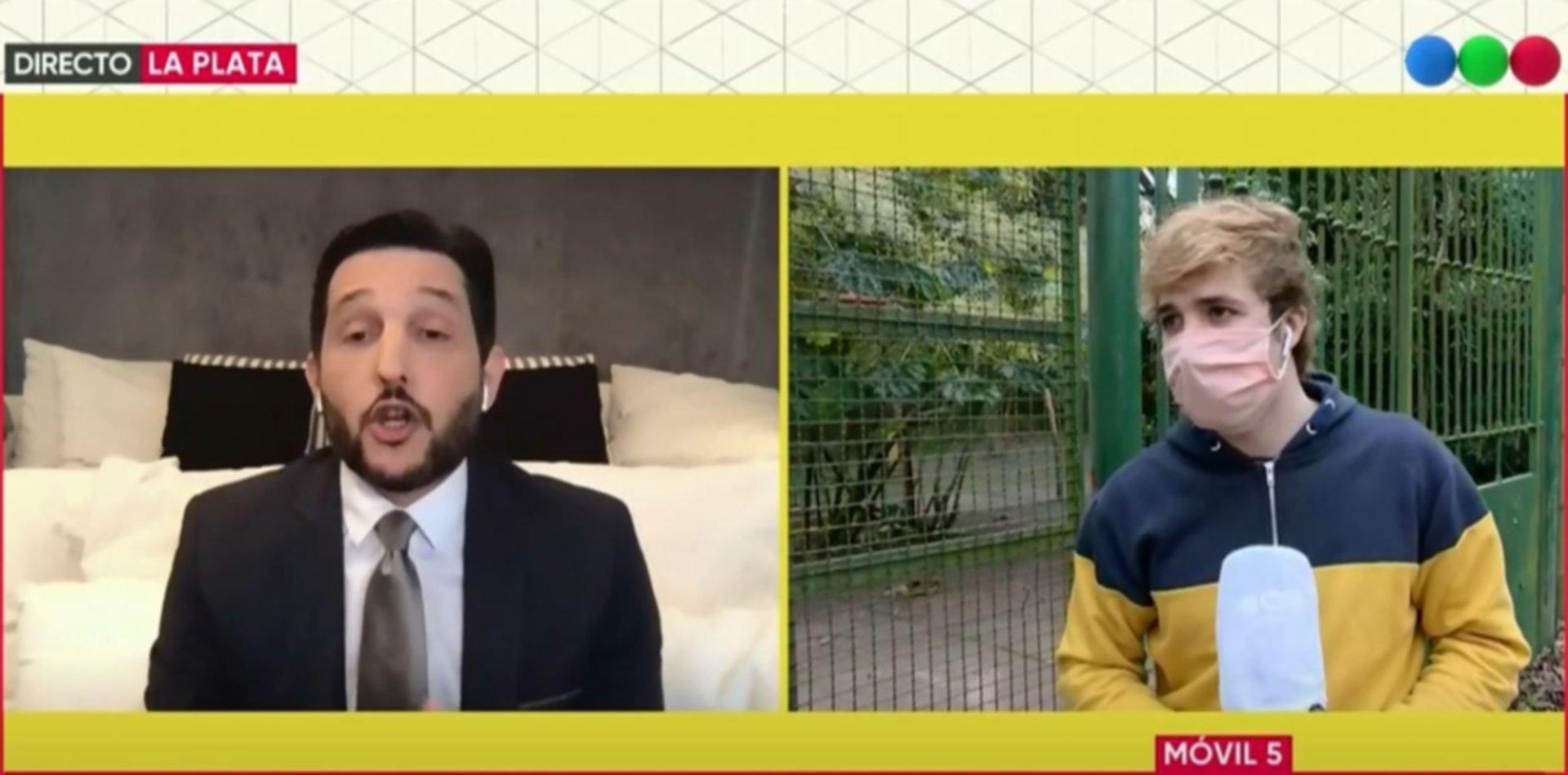 VIDEO: El cruce entre el tiktoker que se metió al Zoológico de La Plata y Germán Paoloski