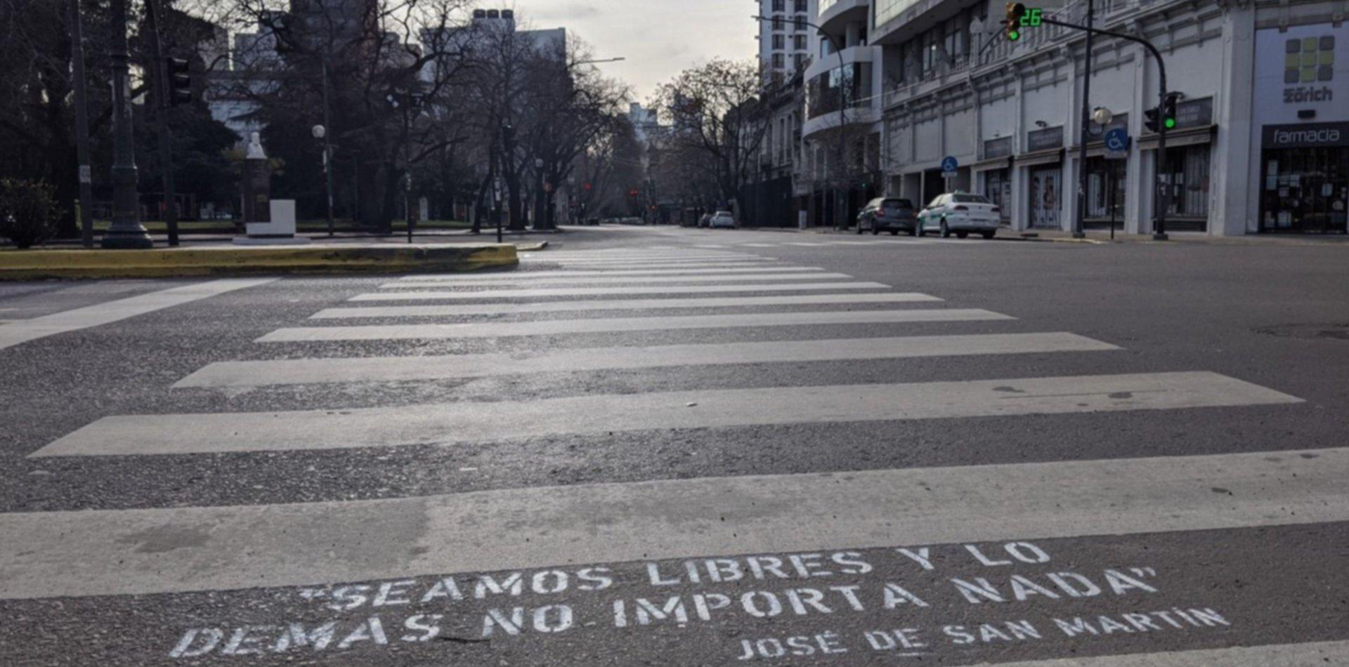 Intervenciones callejeras por el Día de la Independencia