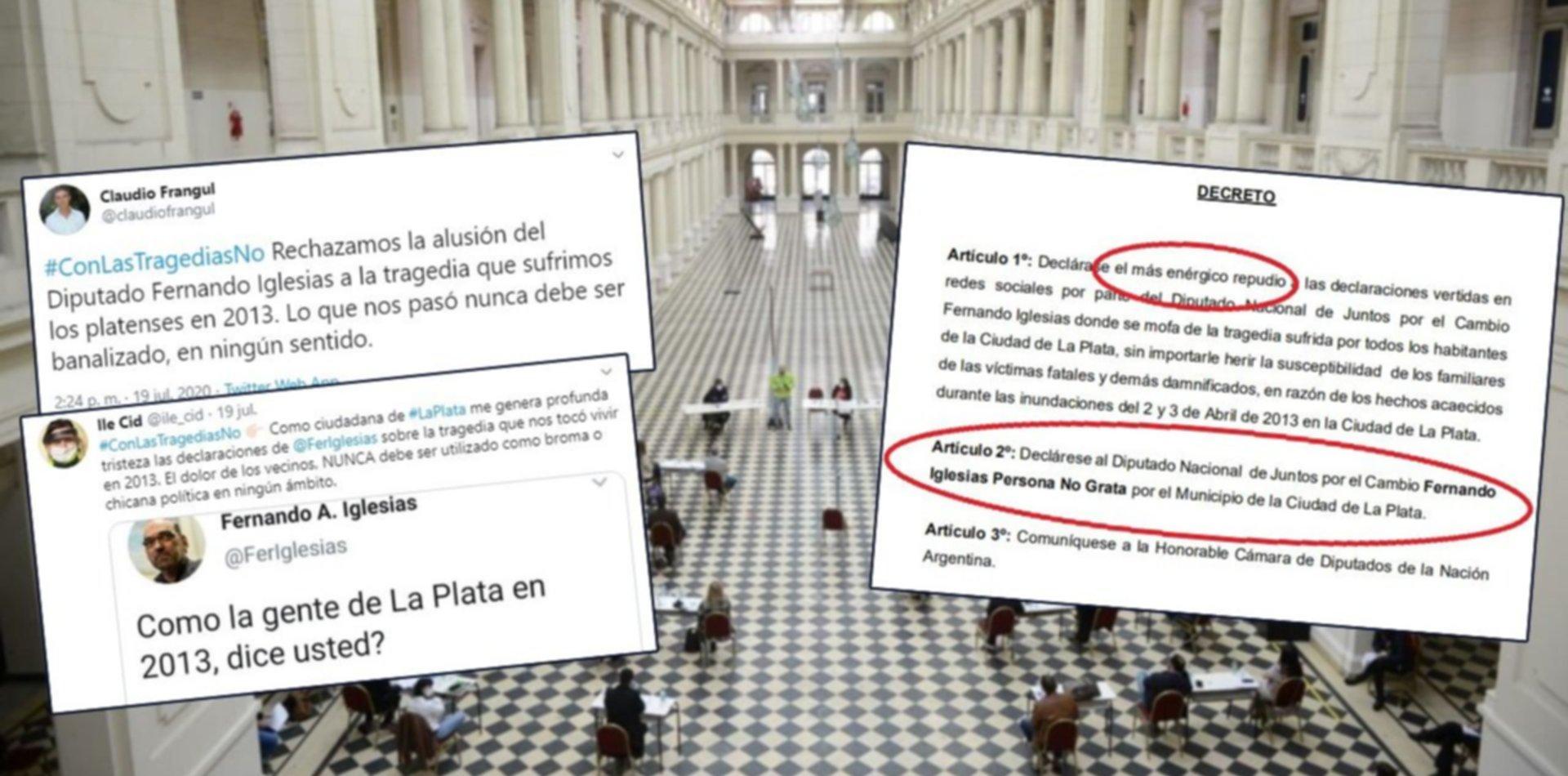 """El Concejo se dividió por Fernando Iglesias y su declaración como """"persona no grata"""""""