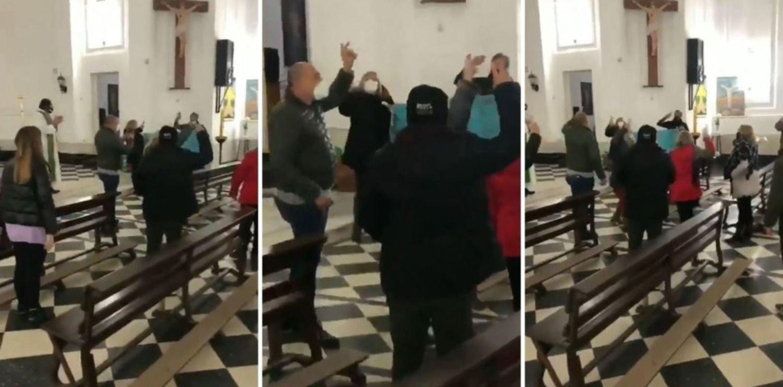 """VIDEO: Una """"misa peronista"""" genera polémica en las redes sociales"""
