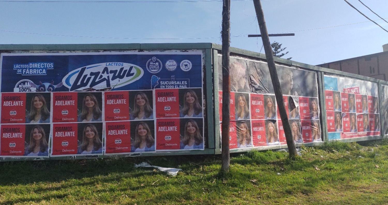 El extraño caso de la precandidata desconocida que hace campaña de afiches en La Plata