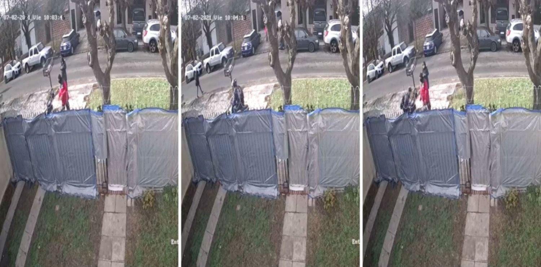VIDEO: Un gasista de Camuzzi controlaba un medidor y le robaron la moto a punta de pistola