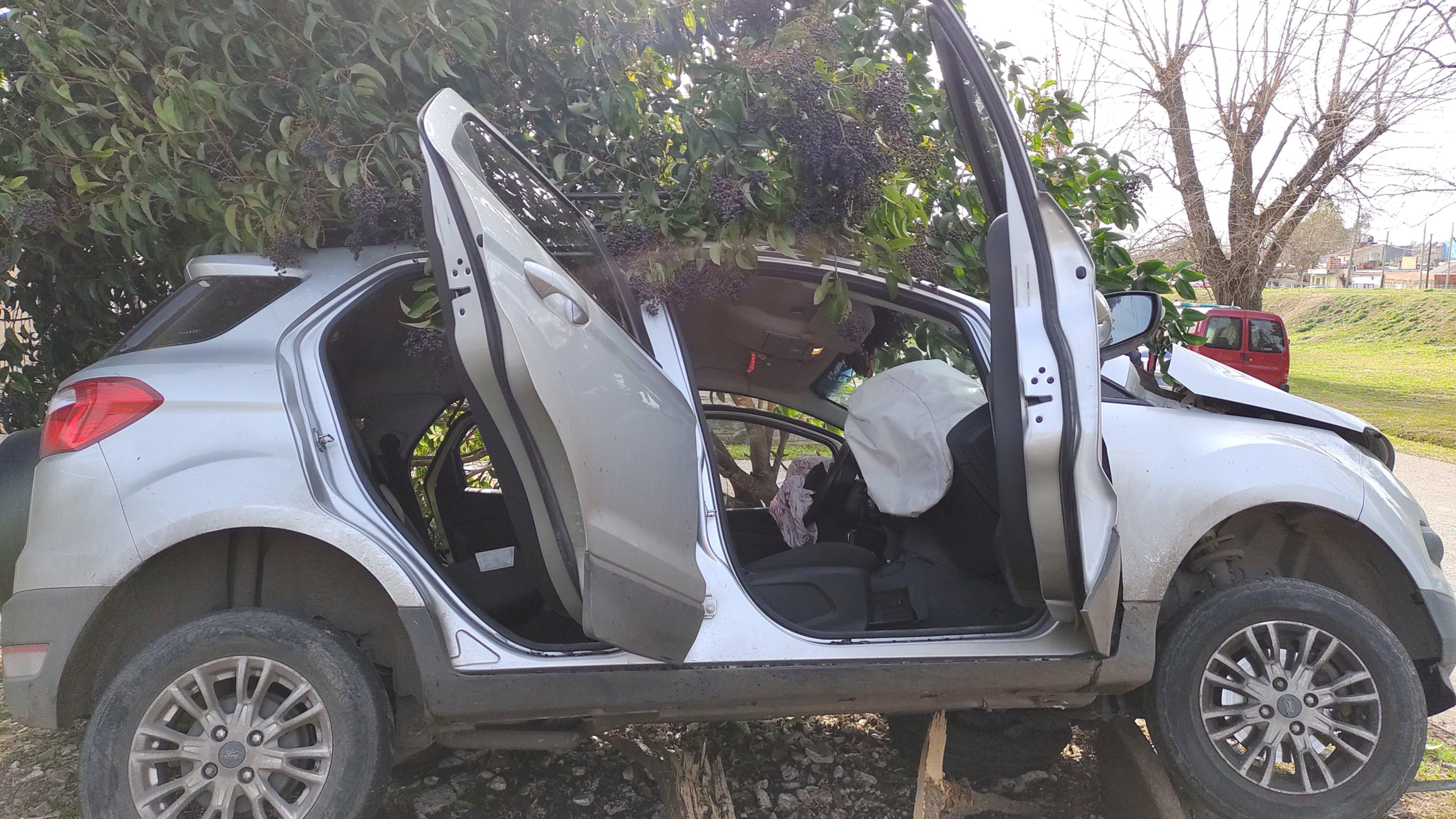 Robo, persecución y vuelco: cinco ladrones huyeron de la policía y chocaron en Tolosa