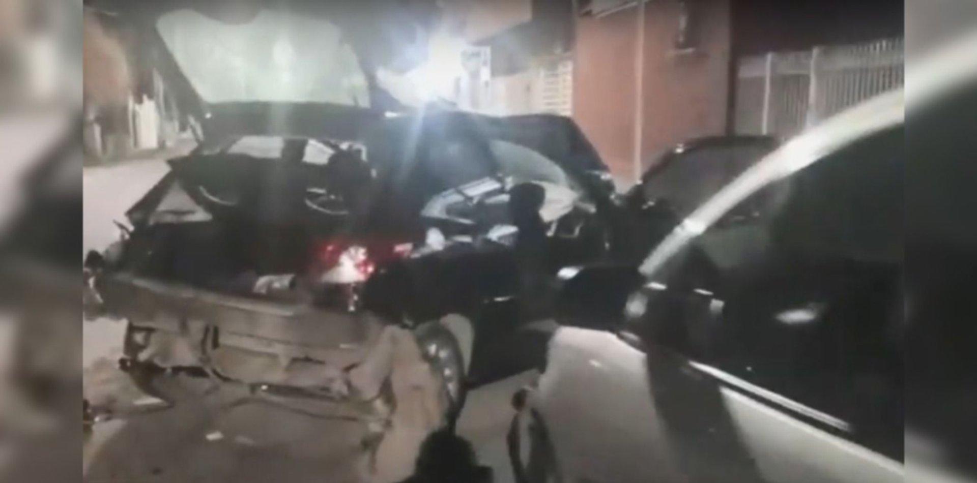 Persecución, triple choque y vuelco en La Plata