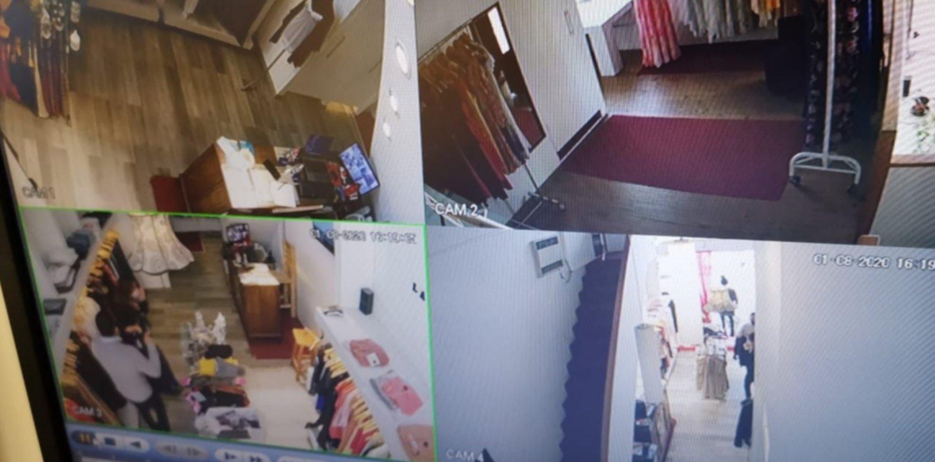 VIDEO: Se hizo pasar por un cliente y en segundo robó un celular en el local de Las Oreiro