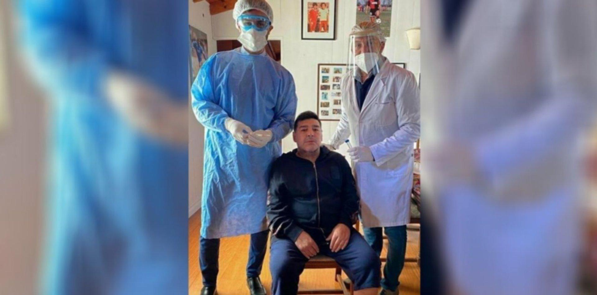 Maradona se hisopó y espera para volver a los entrenamientos