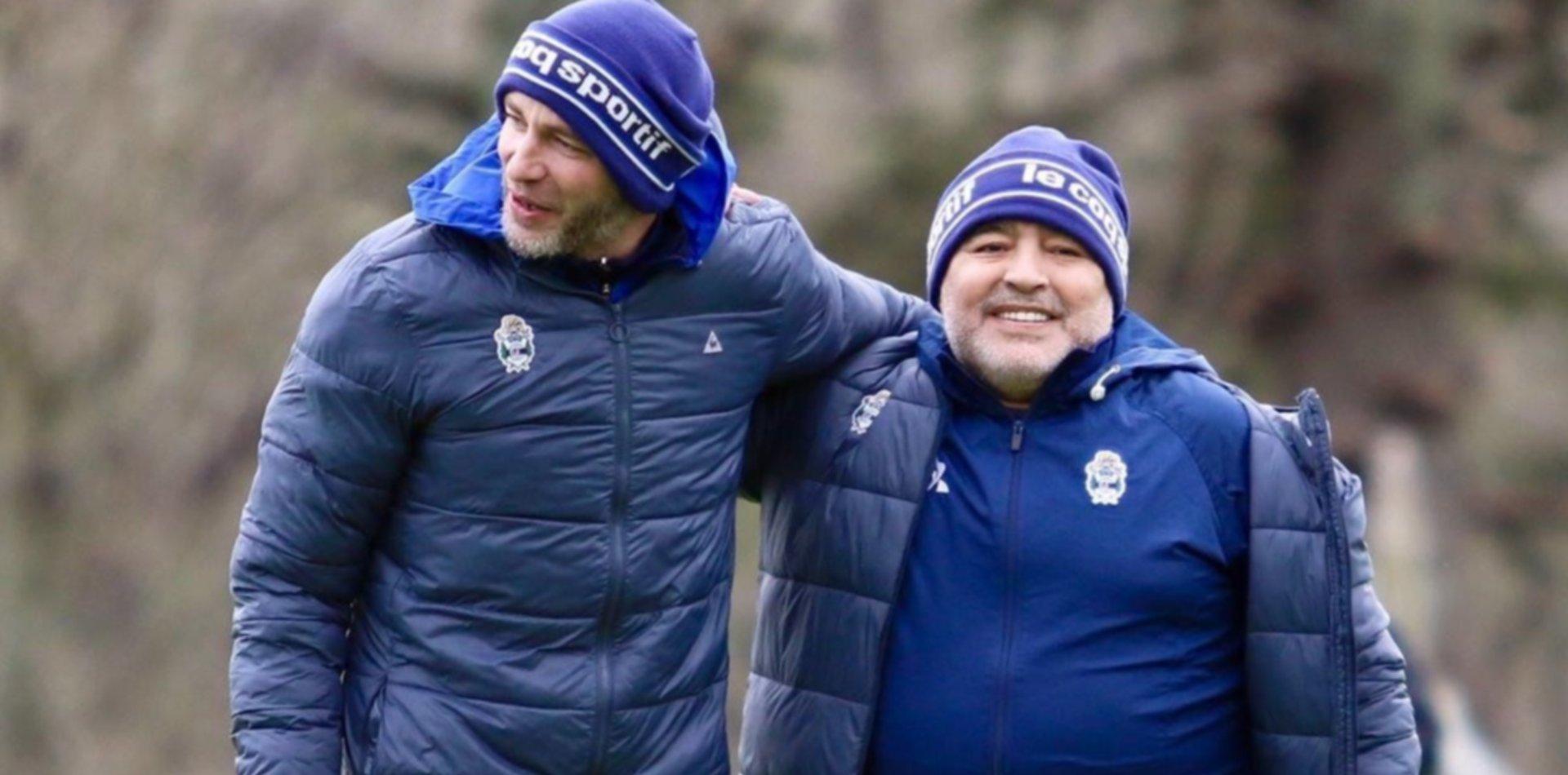Maradona ya perfila el equipo para enfrentar a Racing y debutar en el banco de Gimnasia