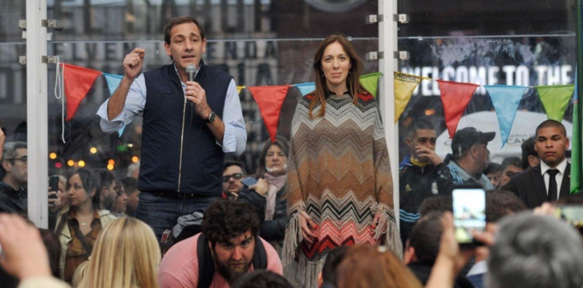 Garro relanzó la campaña con un acto y una caminata junto a la gobernadora Vidal