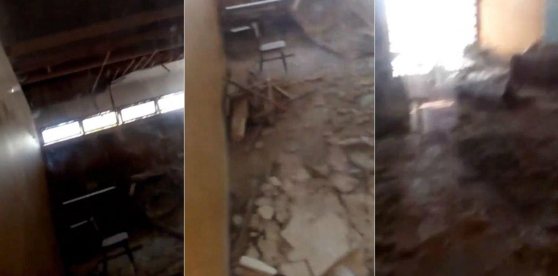 Al borde de la tragedia: se desplomó el techo de un aula en una escuela de La Plata