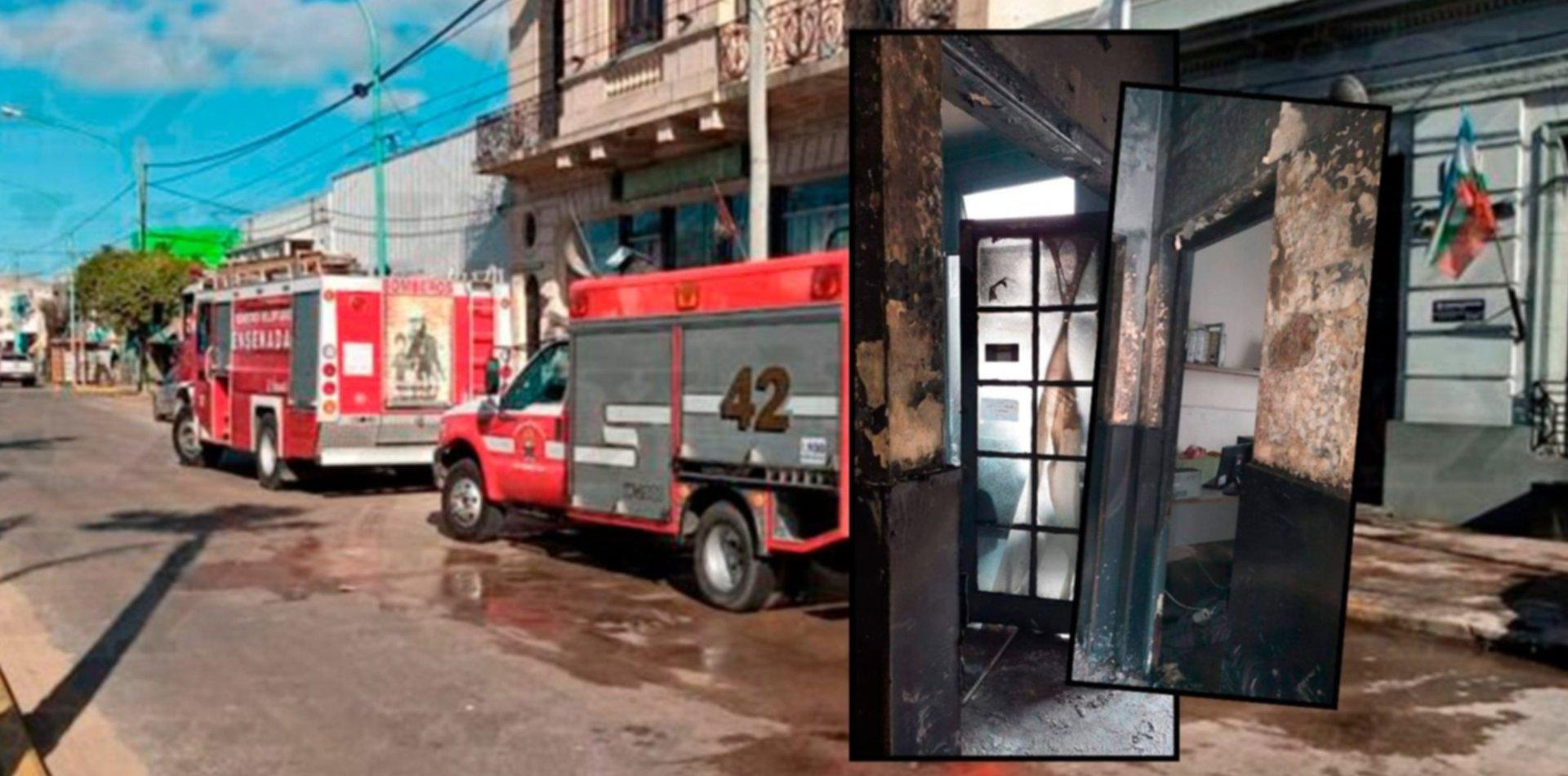 Detuvieron al joven que incendió una comisaría de Ensenada
